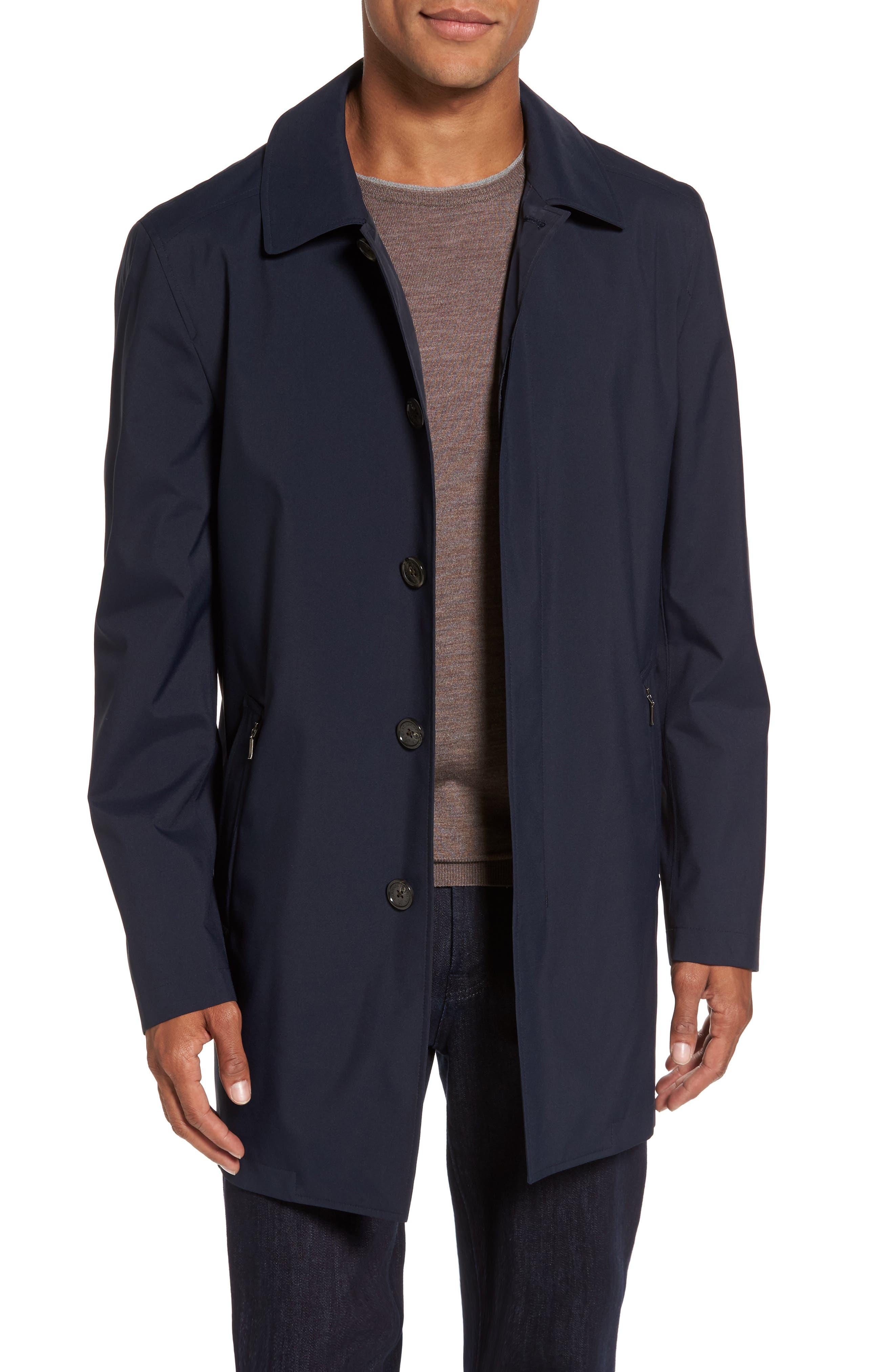 Rain Coat,                         Main,                         color, Navy