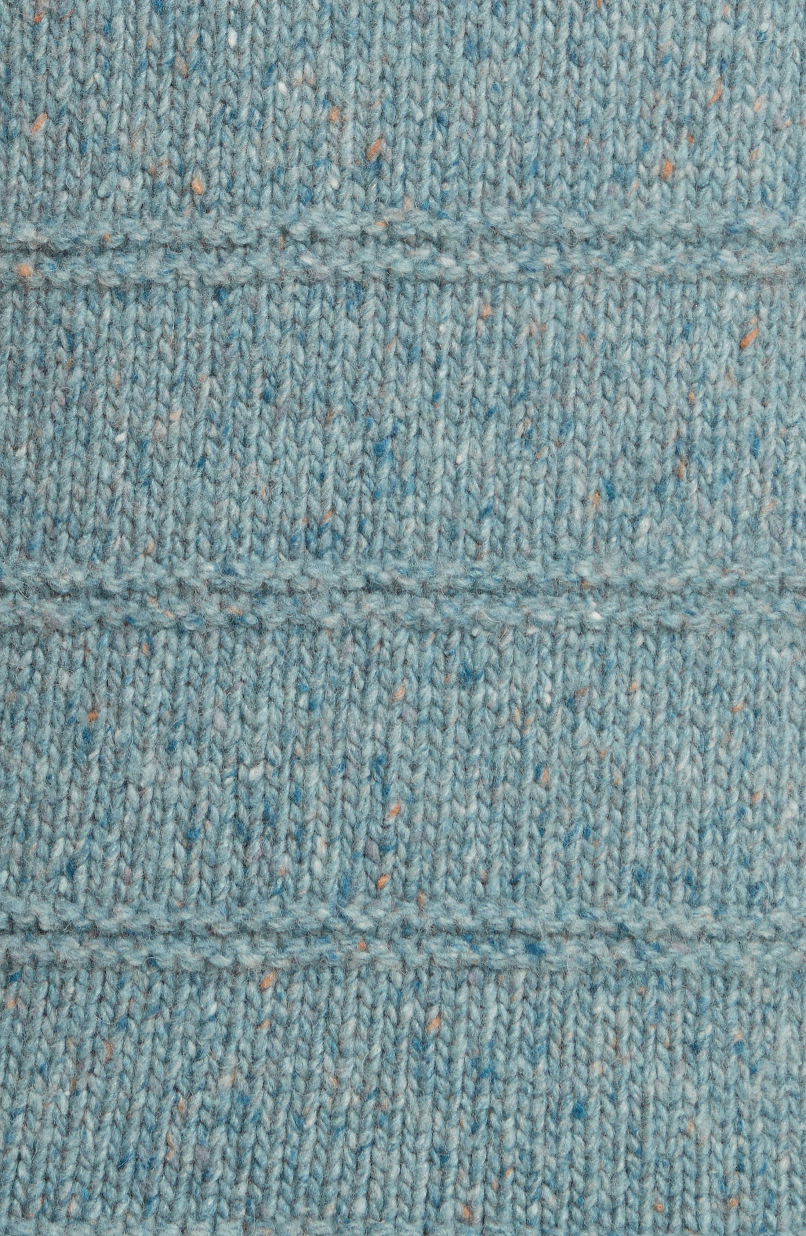 Donegal Tweed Pullover,                             Alternate thumbnail 5, color,                             Sea Mist