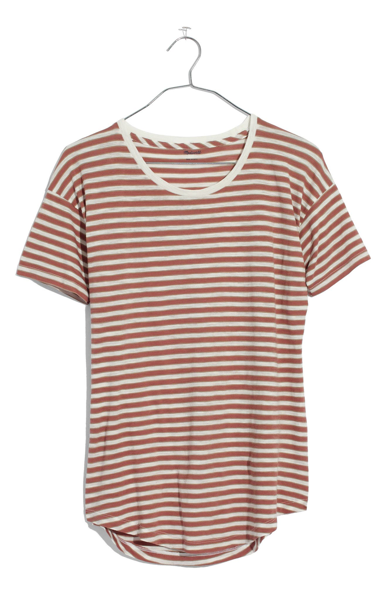 Main Image - Madewell Stripe Whisper Cotton Crewneck Tee