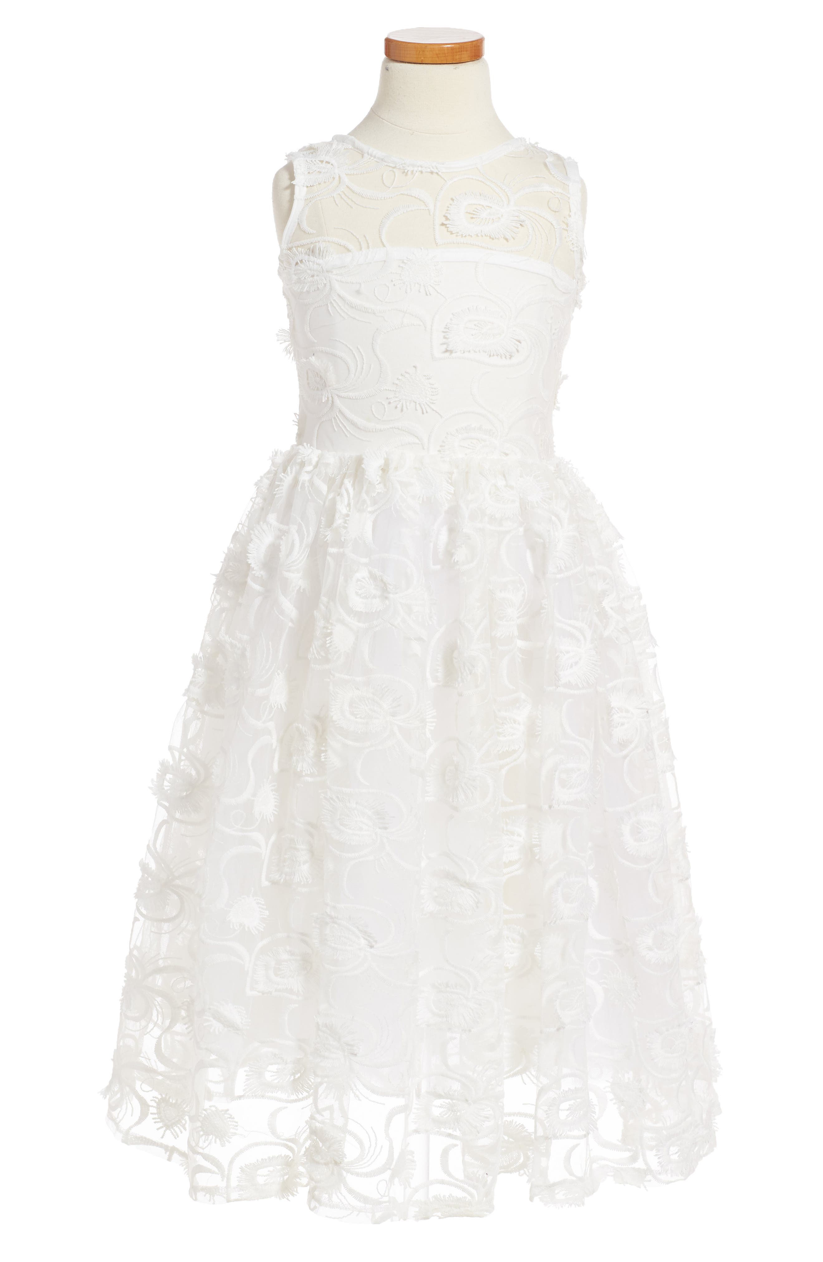 Fiveloaves Twofish Hepburn Embroidered Dress (Little Girls & Big Girls)