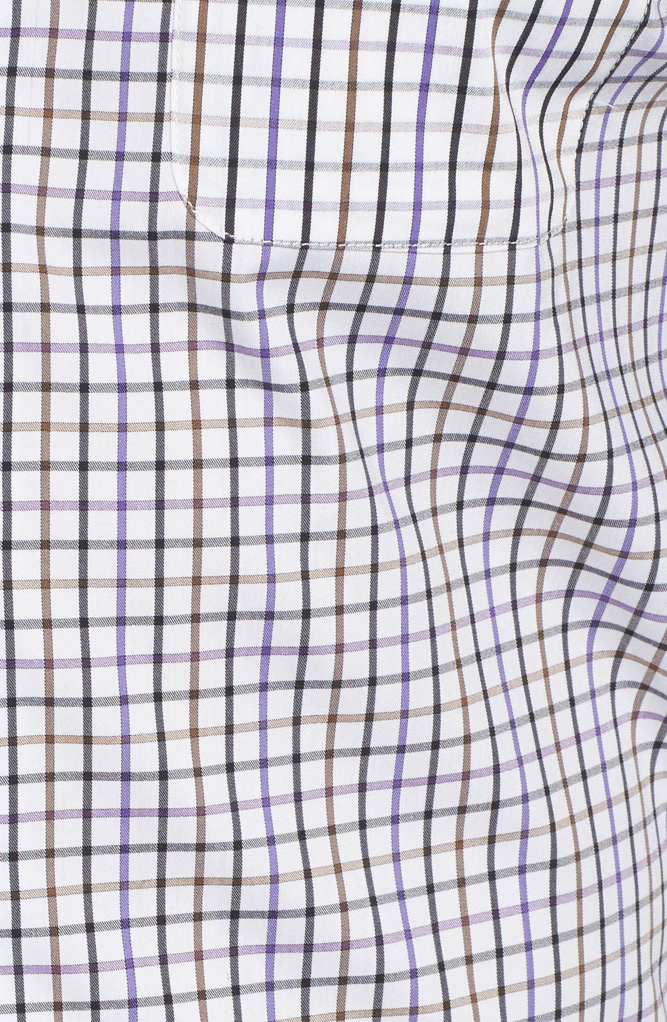 Merion Tattersall Sport Shirt,                             Alternate thumbnail 5, color,                             Viola