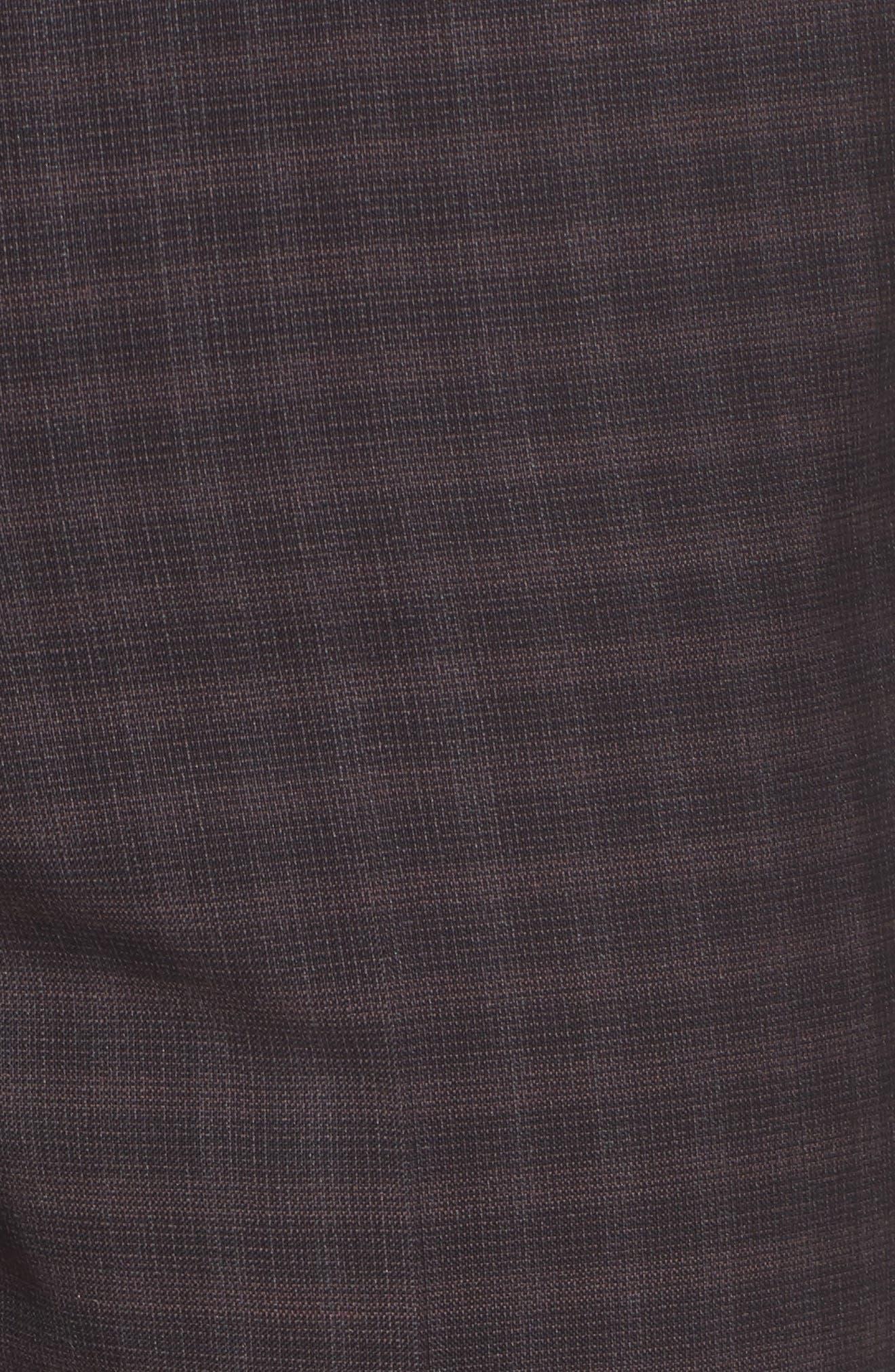 Benso Regular Fit Wool Trousers,                             Alternate thumbnail 5, color,                             Dark Red