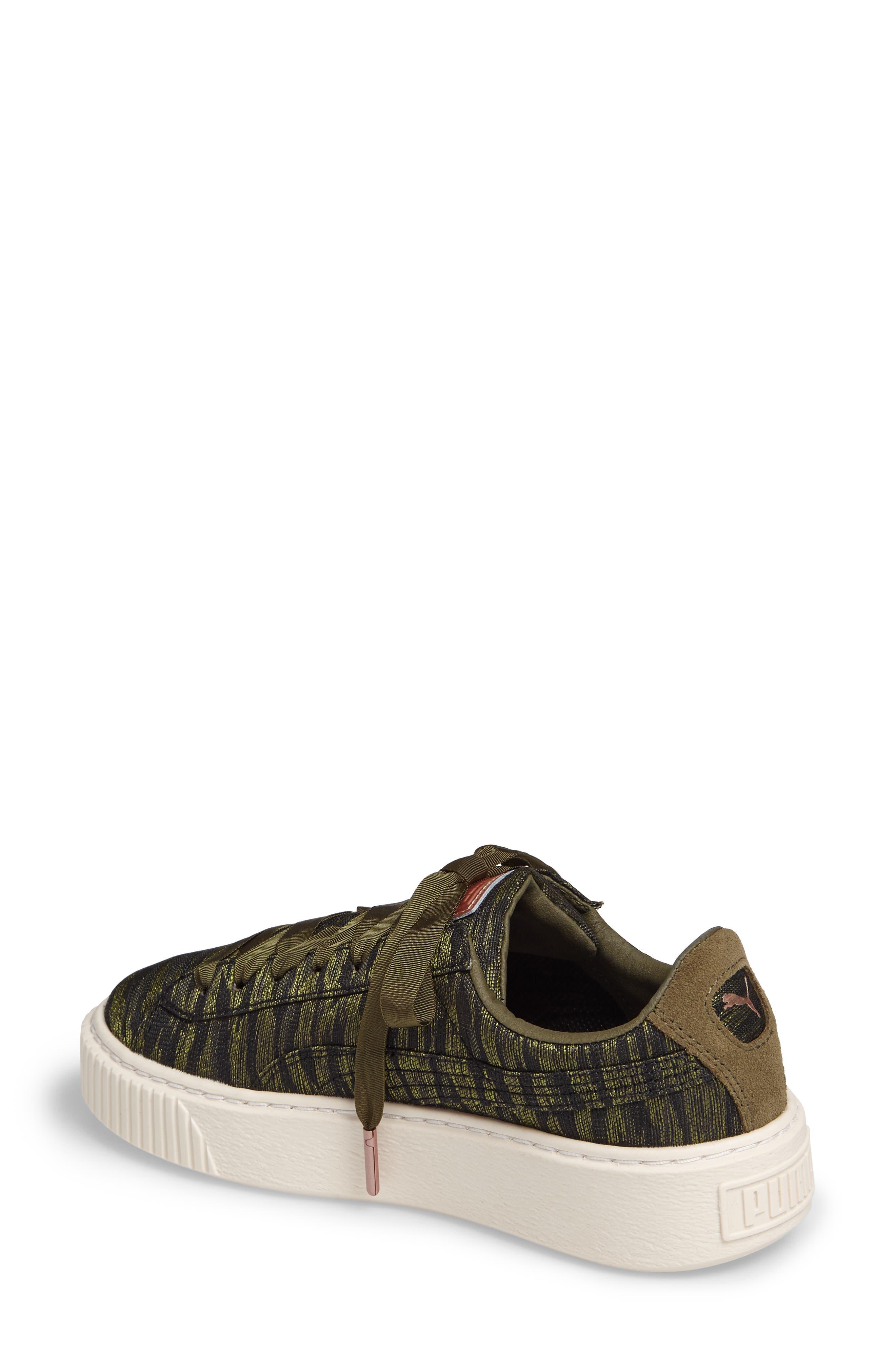 Alternate Image 2  - PUMA Basket Platform Sneaker (Women)