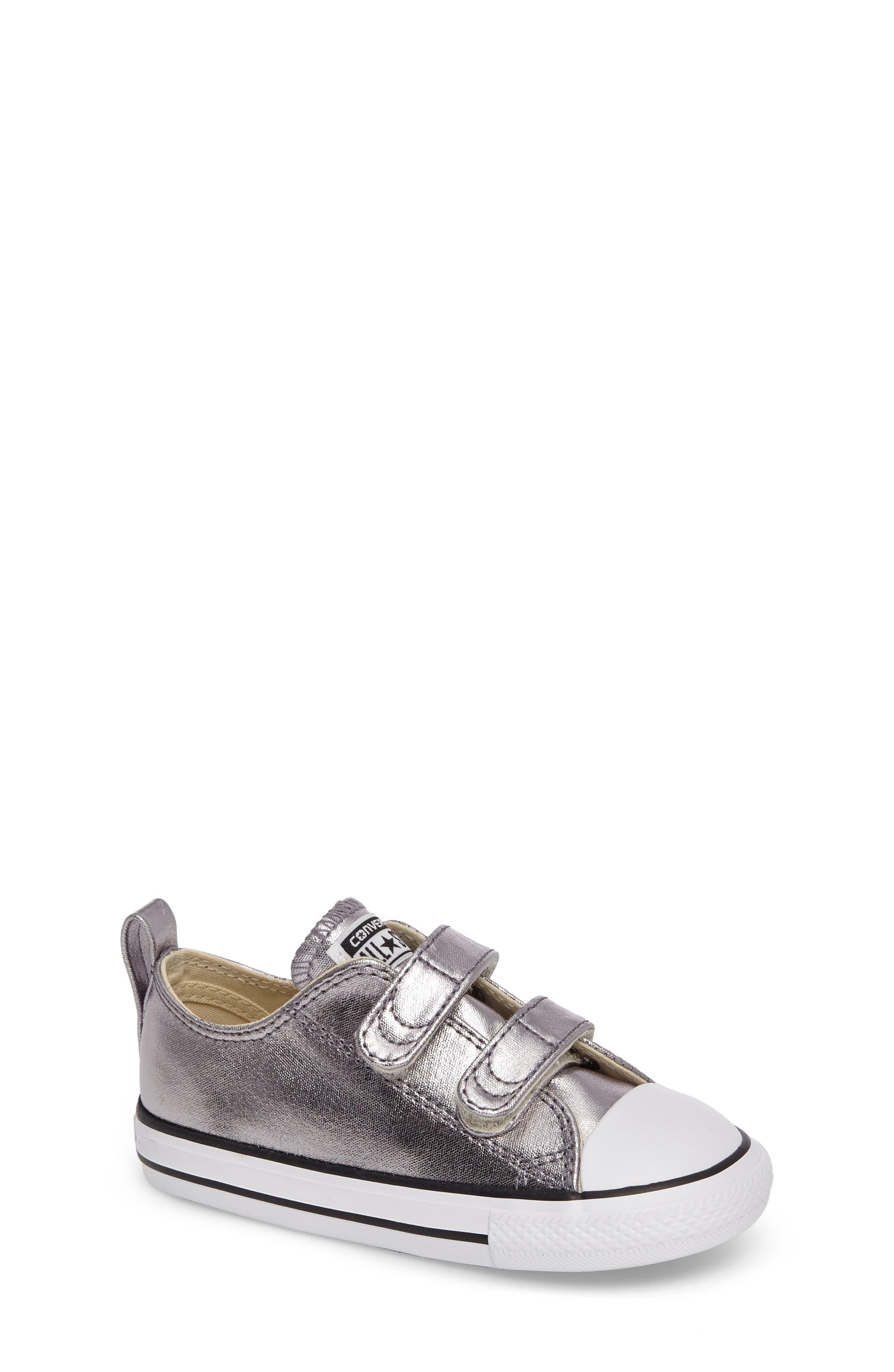Converse Chuck Taylor® All Star® Seasonal Metallic Low Top Sneaker (Baby, Walker & Toddler)