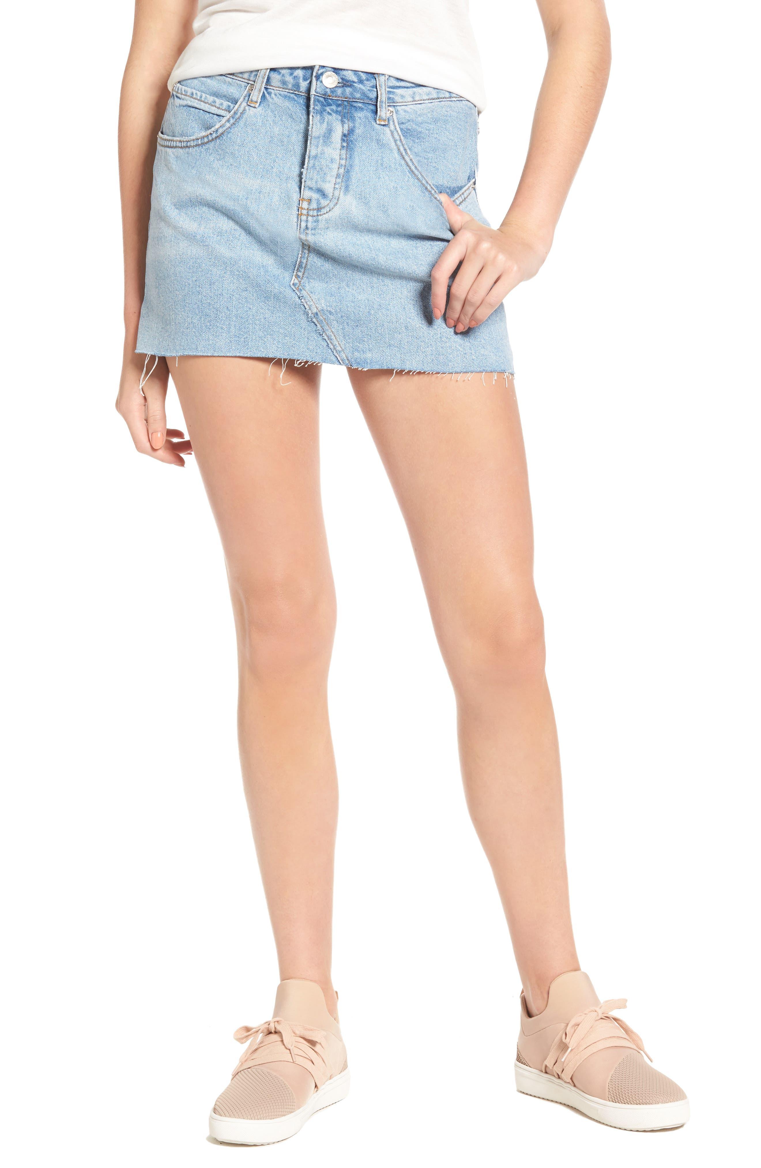 SINCERELY JULES Denim Miniskirt