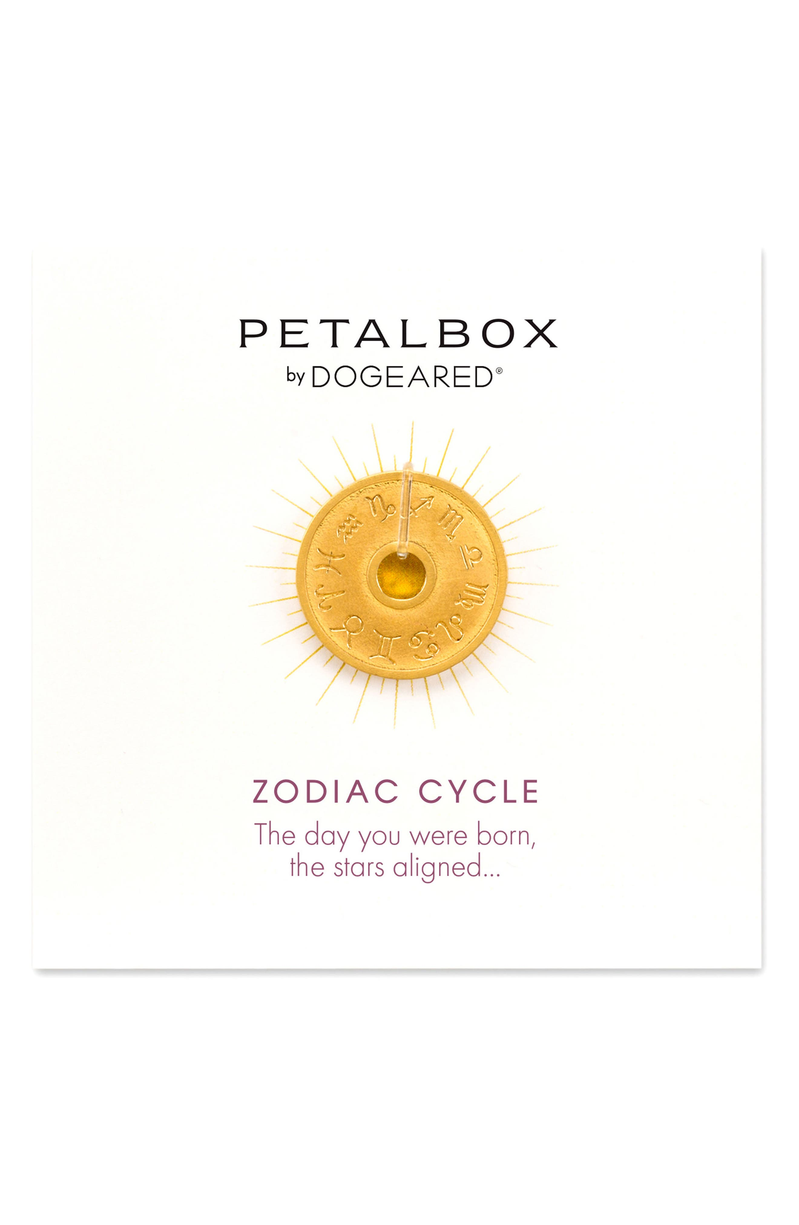 Alternate Image 1 Selected - Dogeared Petalbox Zodiac Enhancer (Nordstrom Exclusive)