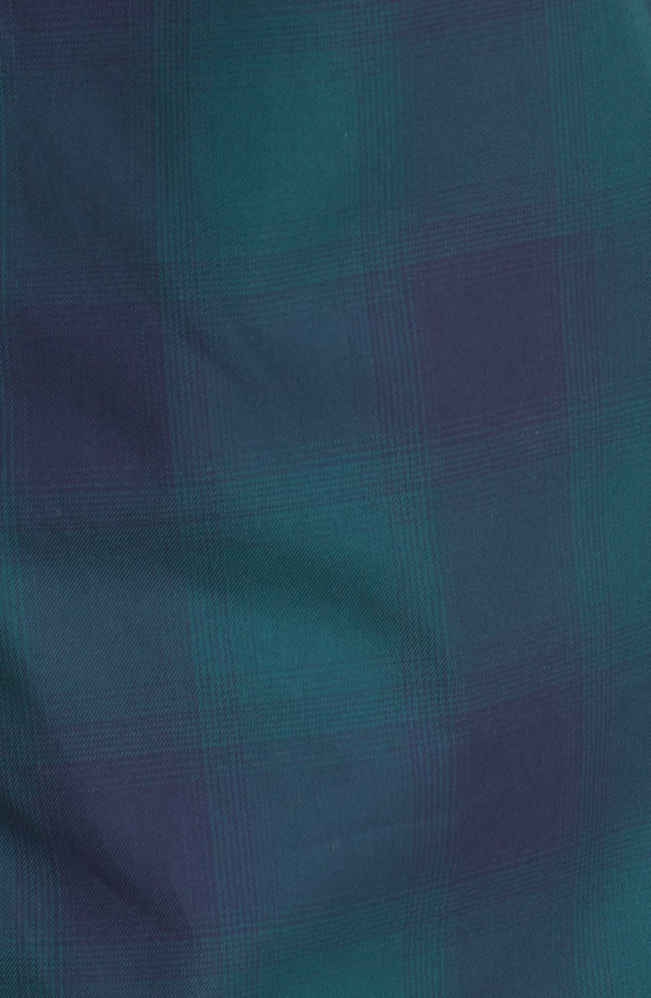 Slim Fit Check Sport Shirt,                             Alternate thumbnail 5, color,                             Green Bug Ombre Plaid