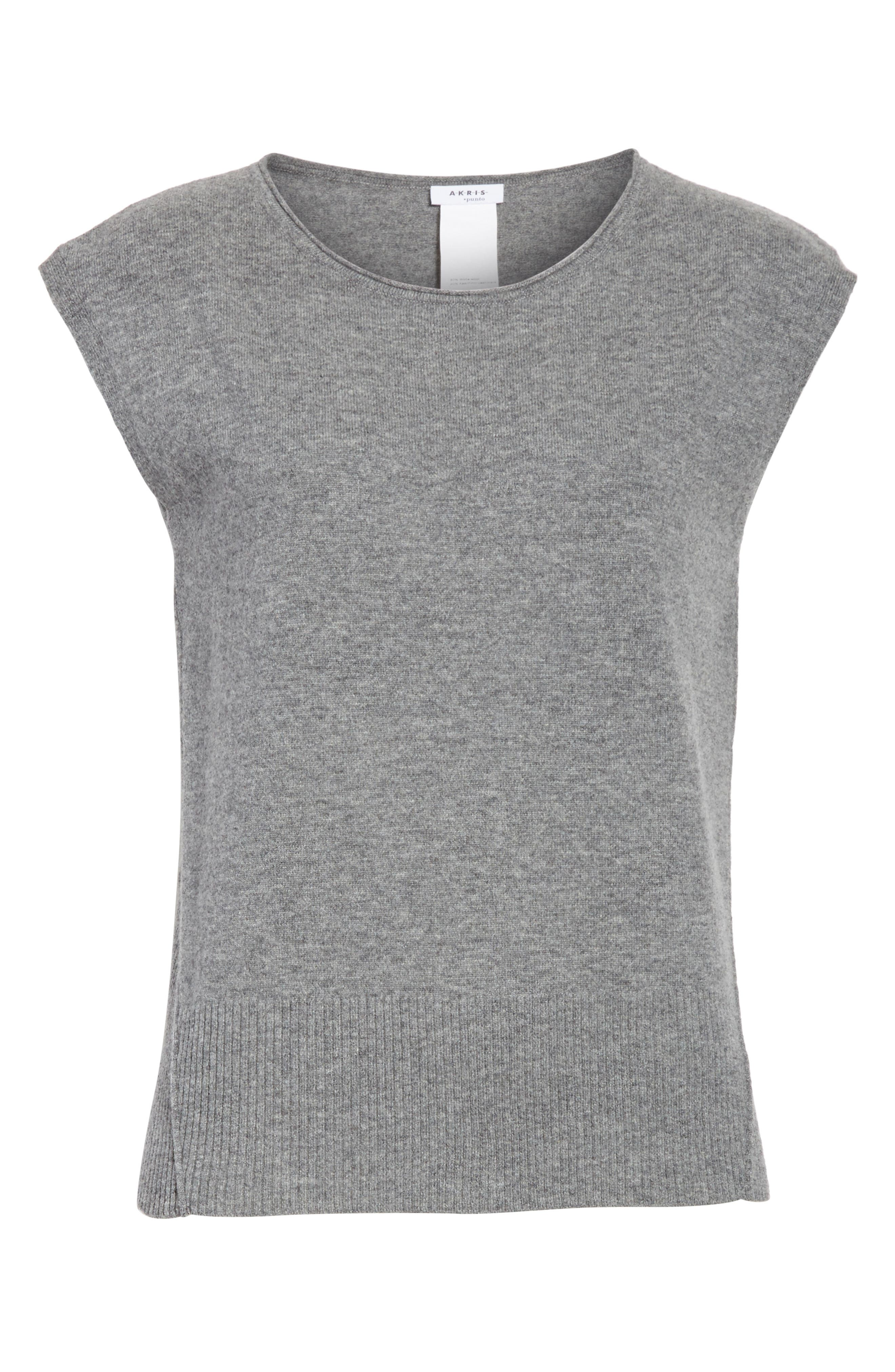 Wool & Cashmere Knit Top,                             Alternate thumbnail 6, color,                             Stone