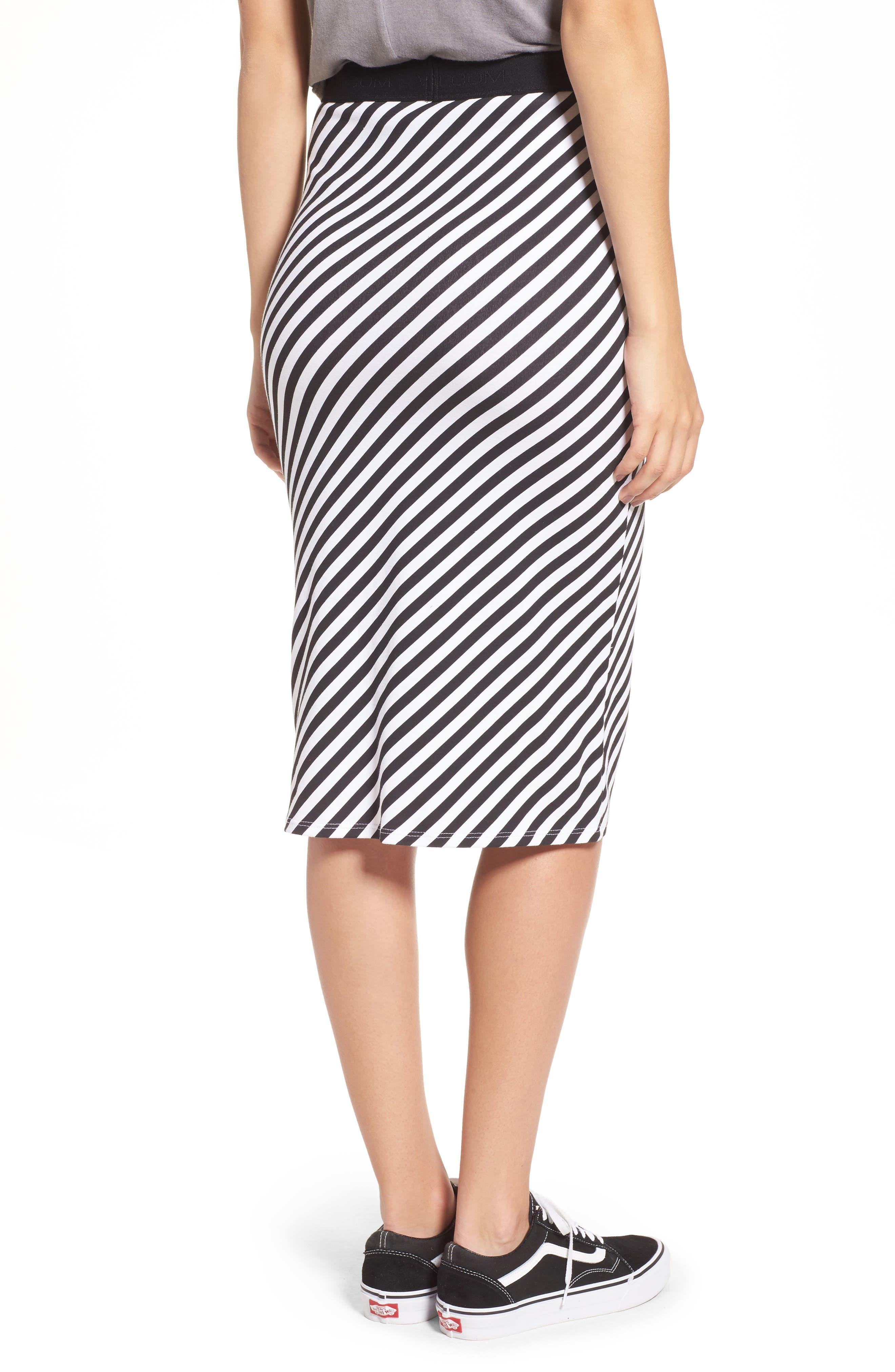 Alternate Image 2  - Volcom Futures Past Stripe Skirt