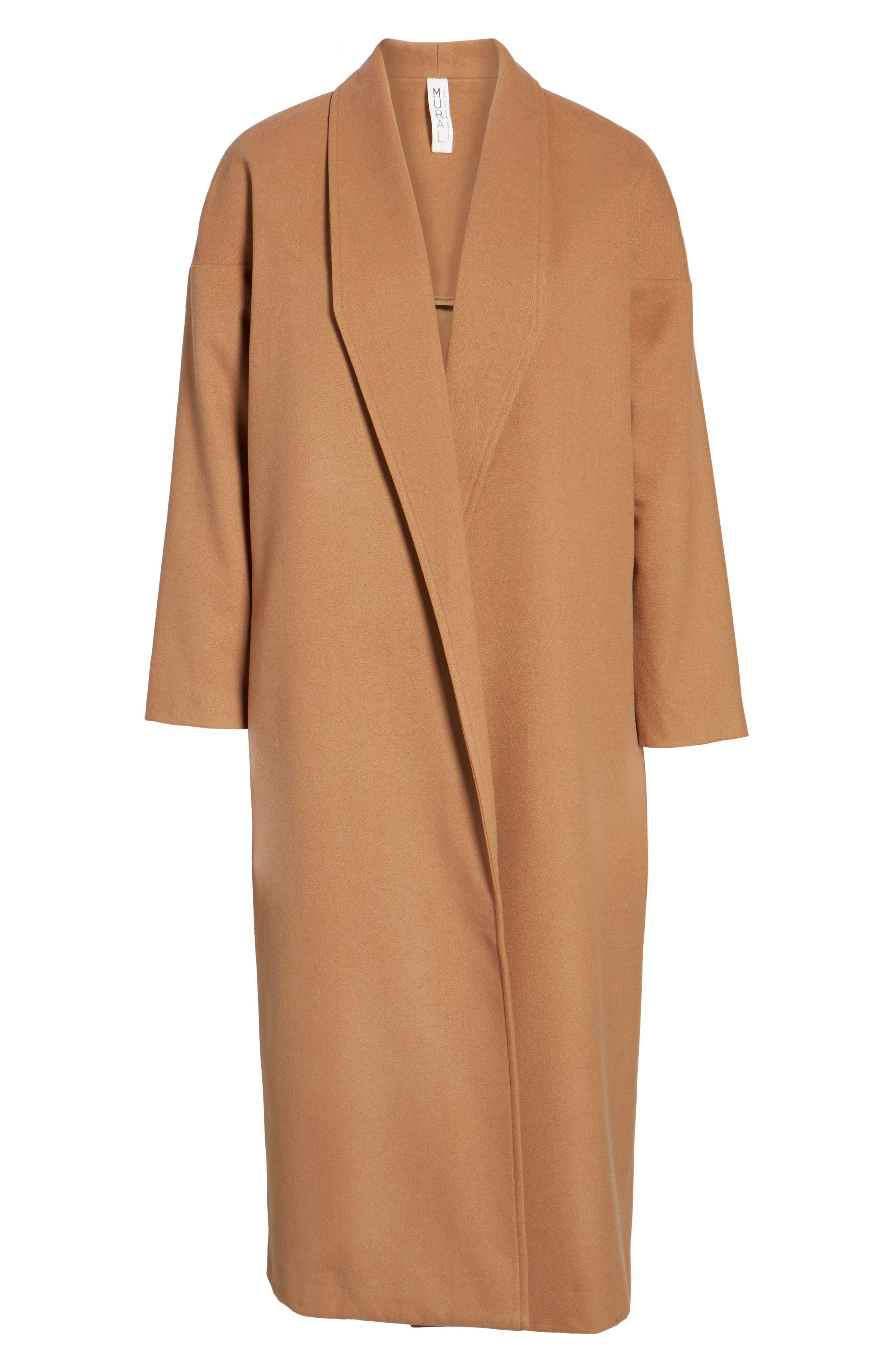 Perfect Midi Coat,                             Alternate thumbnail 8, color,                             Camel