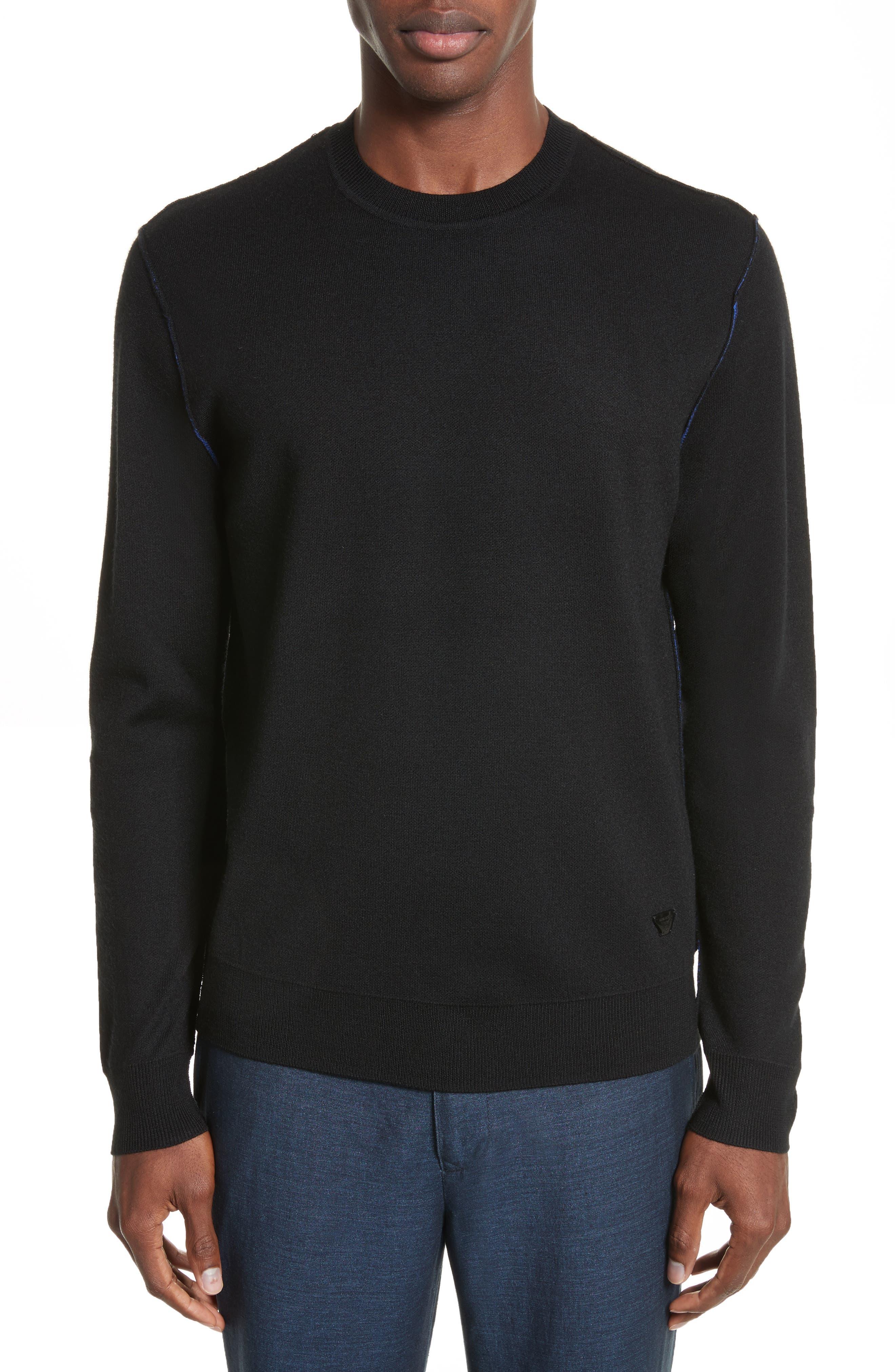 AJ Crewneck Sweater,                         Main,                         color, Black