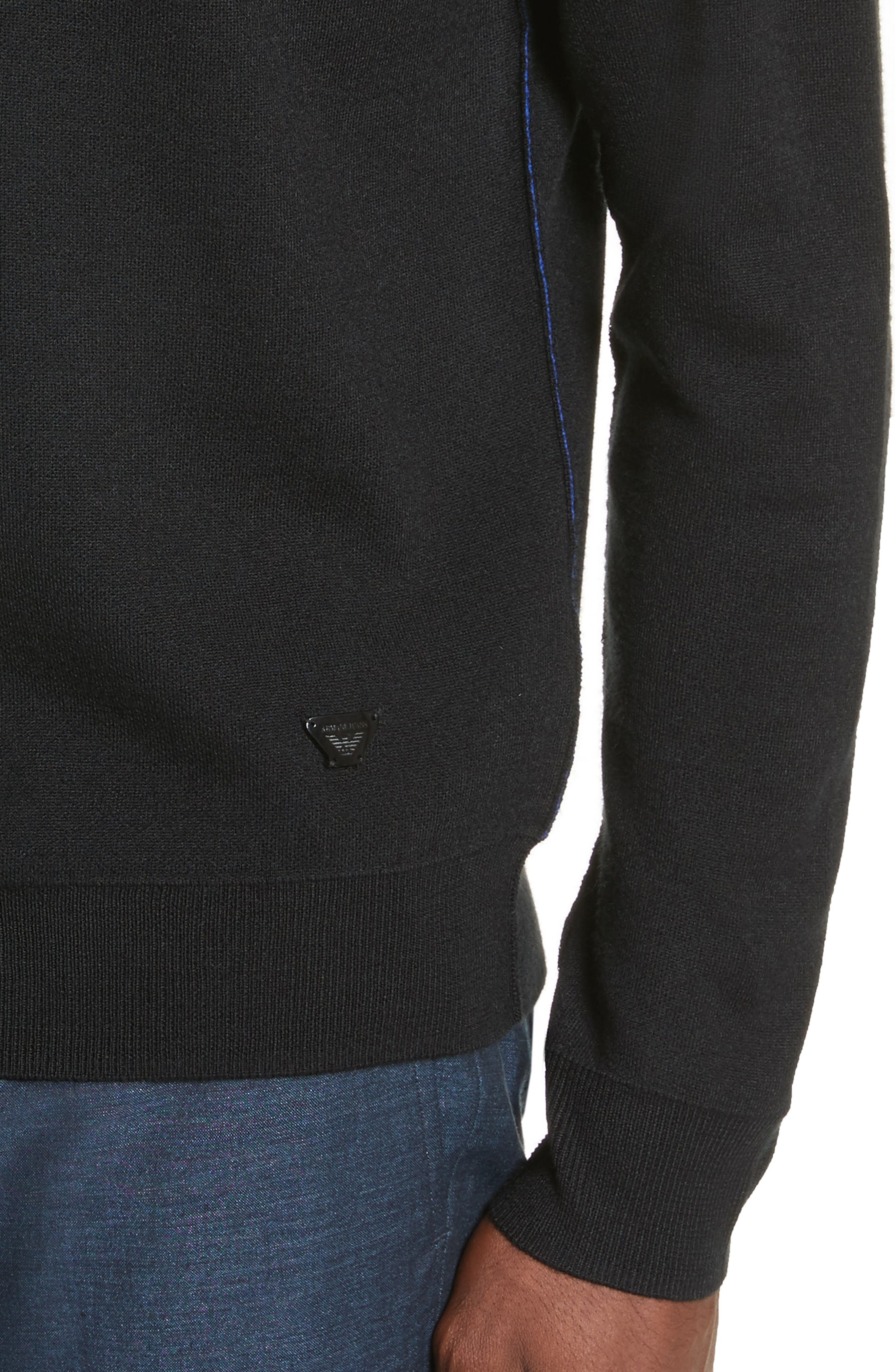 AJ Crewneck Sweater,                             Alternate thumbnail 4, color,                             Black