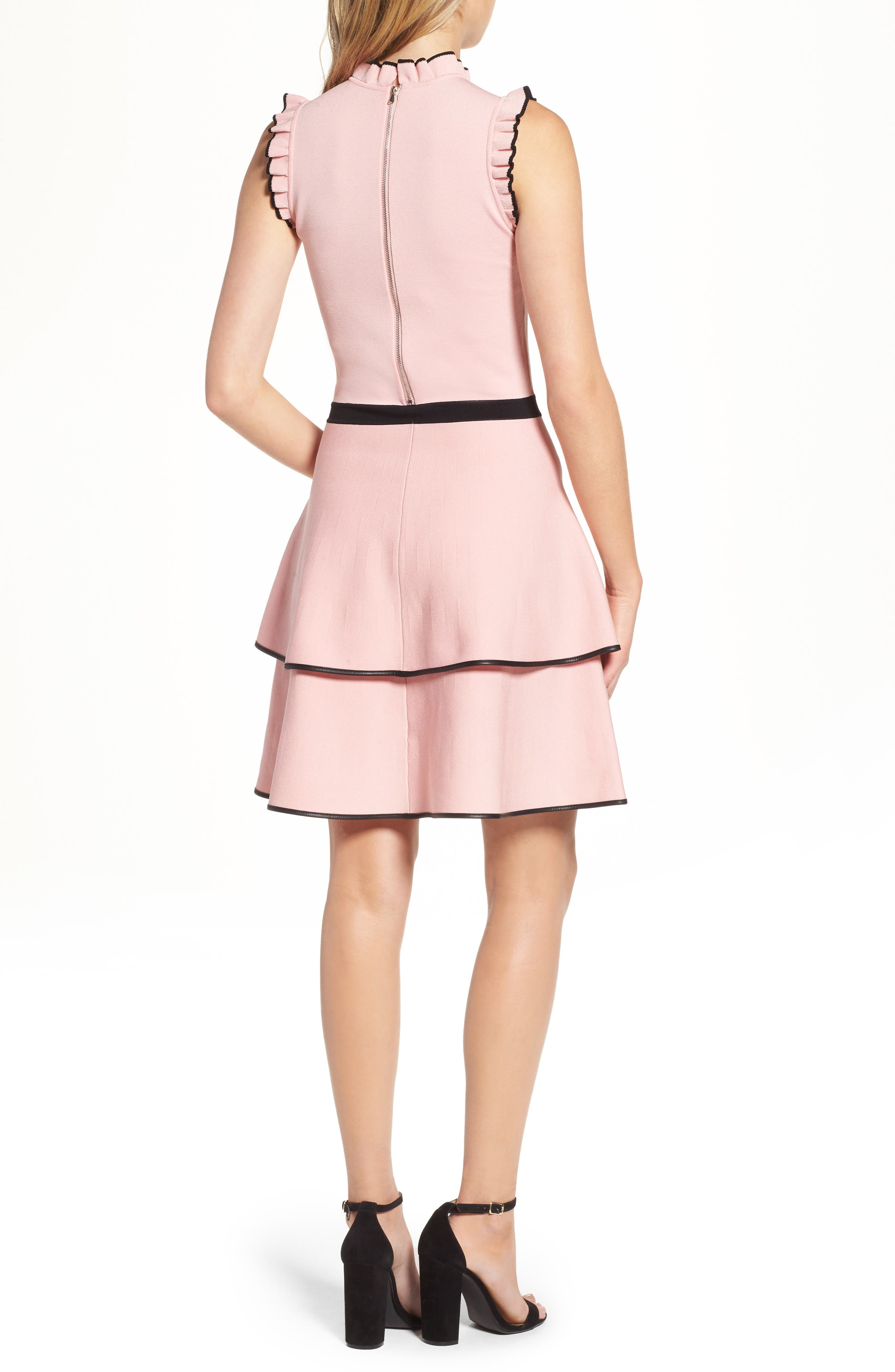 Ryker Fit & Flare Dress,                             Alternate thumbnail 2, color,                             Ballerina