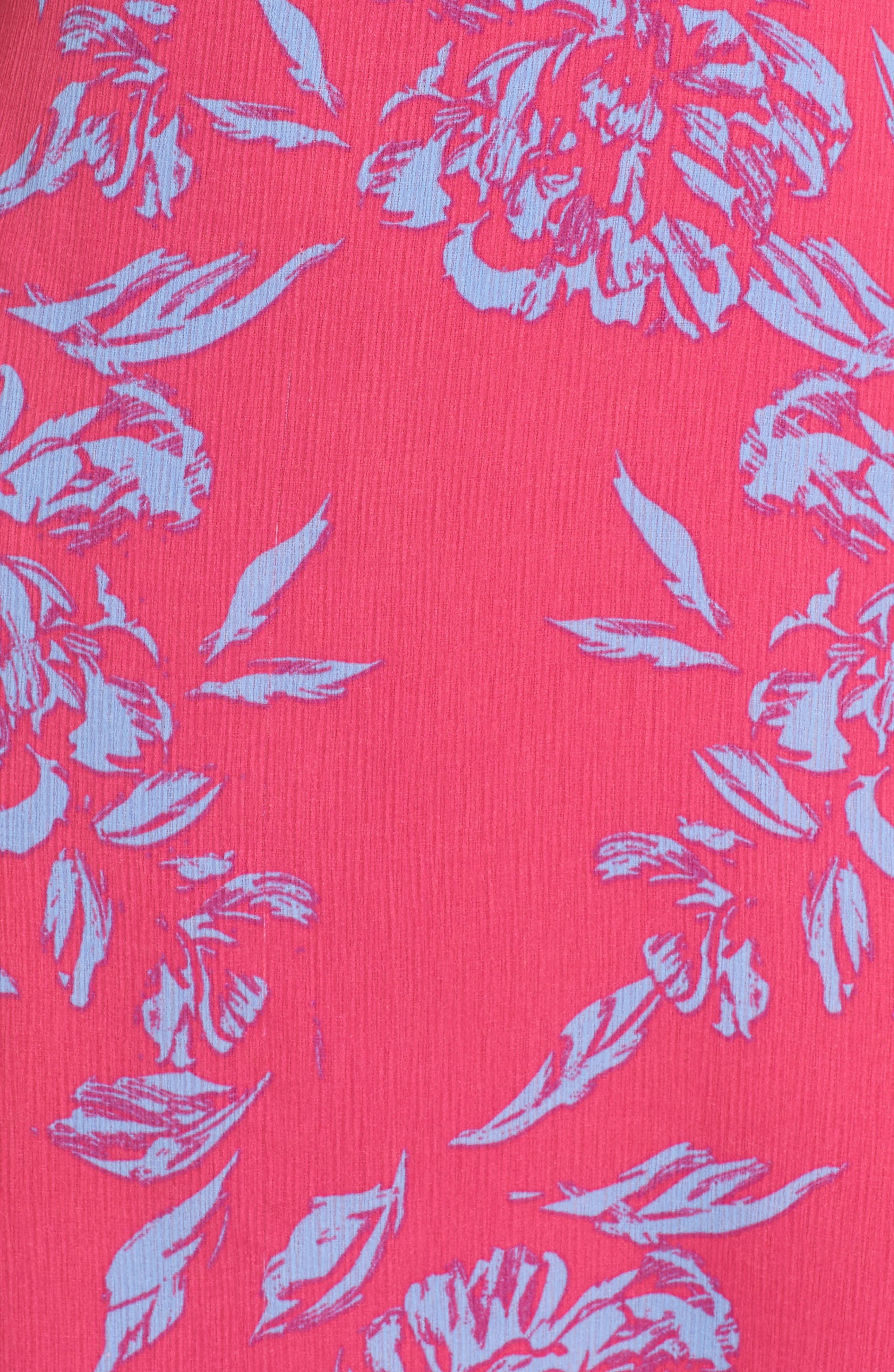 Alternate Image 5  - Charles Henry Off the Shoulder Print Shift Dress