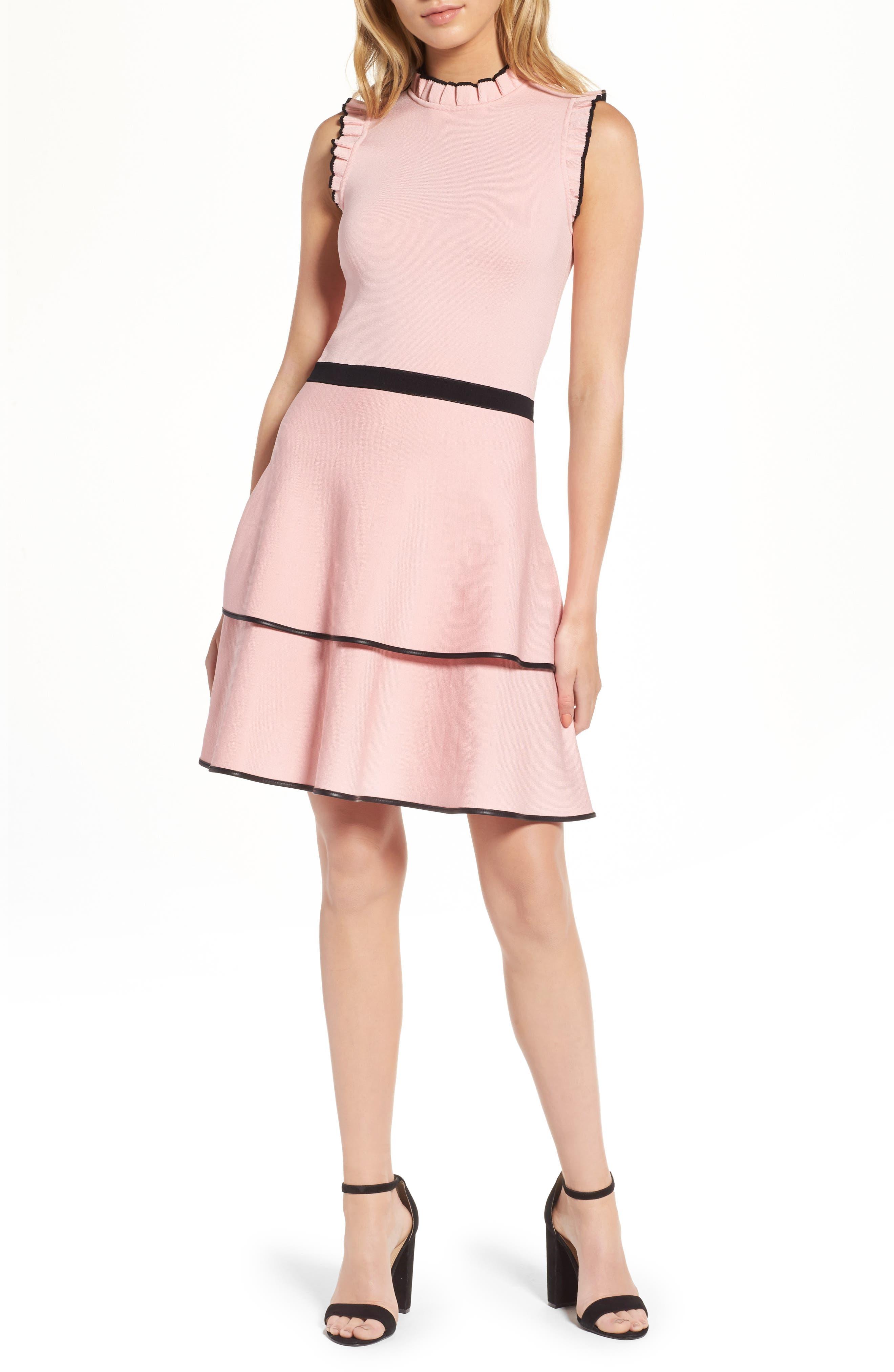 Ryker Fit & Flare Dress,                         Main,                         color, Ballerina