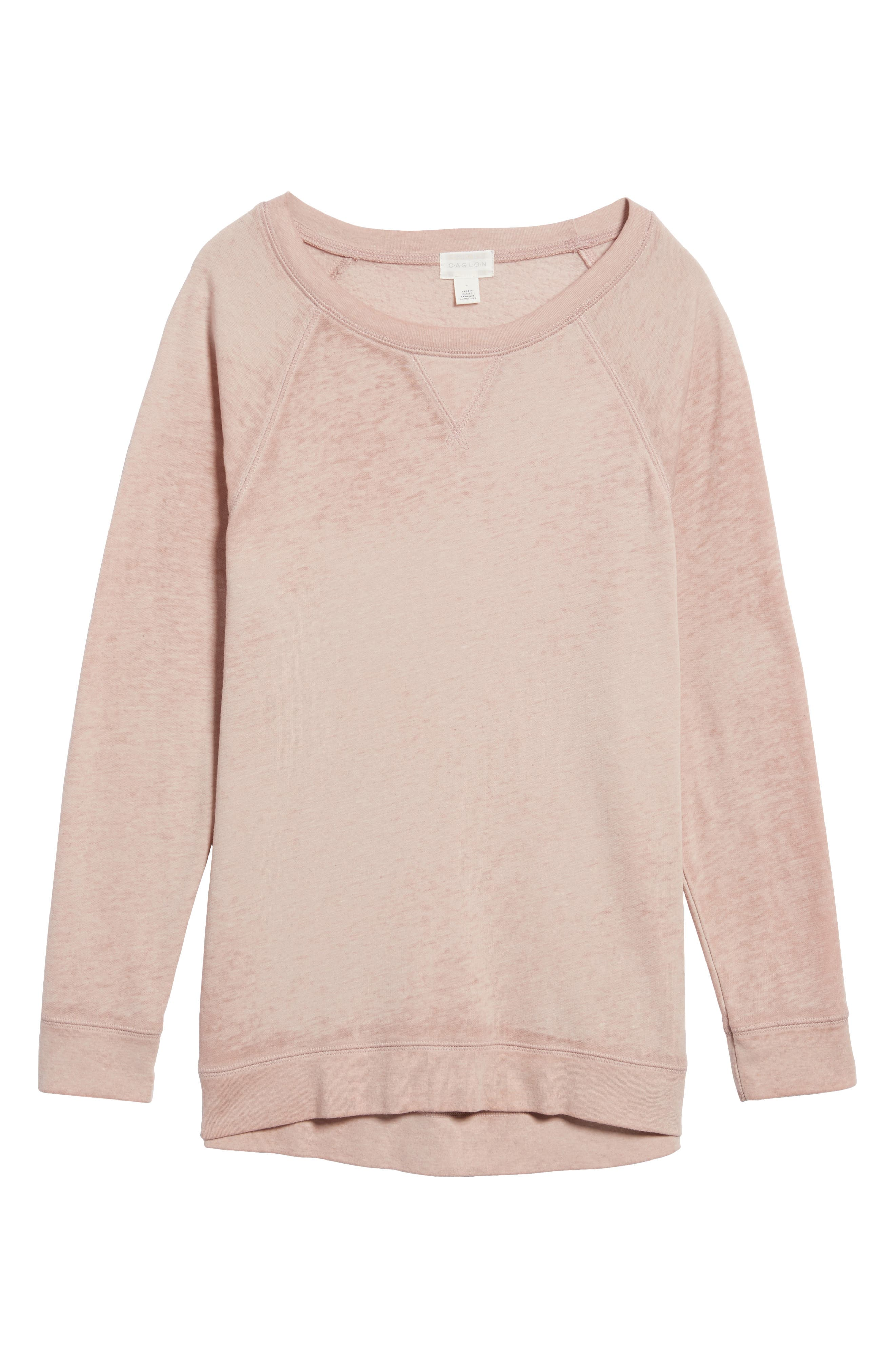 Alternate Image 6  - Caslon® Burnout Sweatshirt (Regular & Petite)