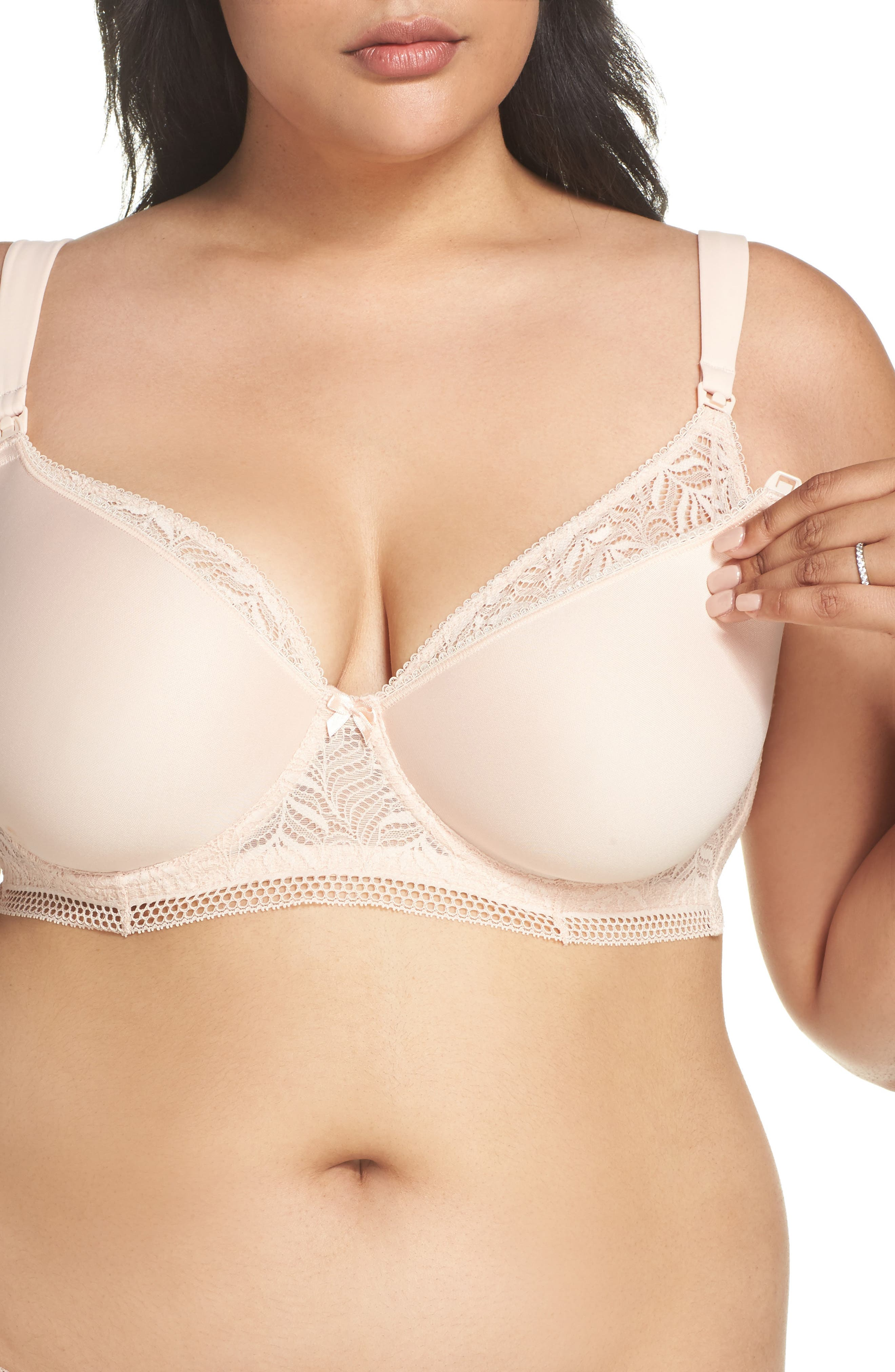 Alternate Image 4  - Felina Underwire Spacer Nursing Bra