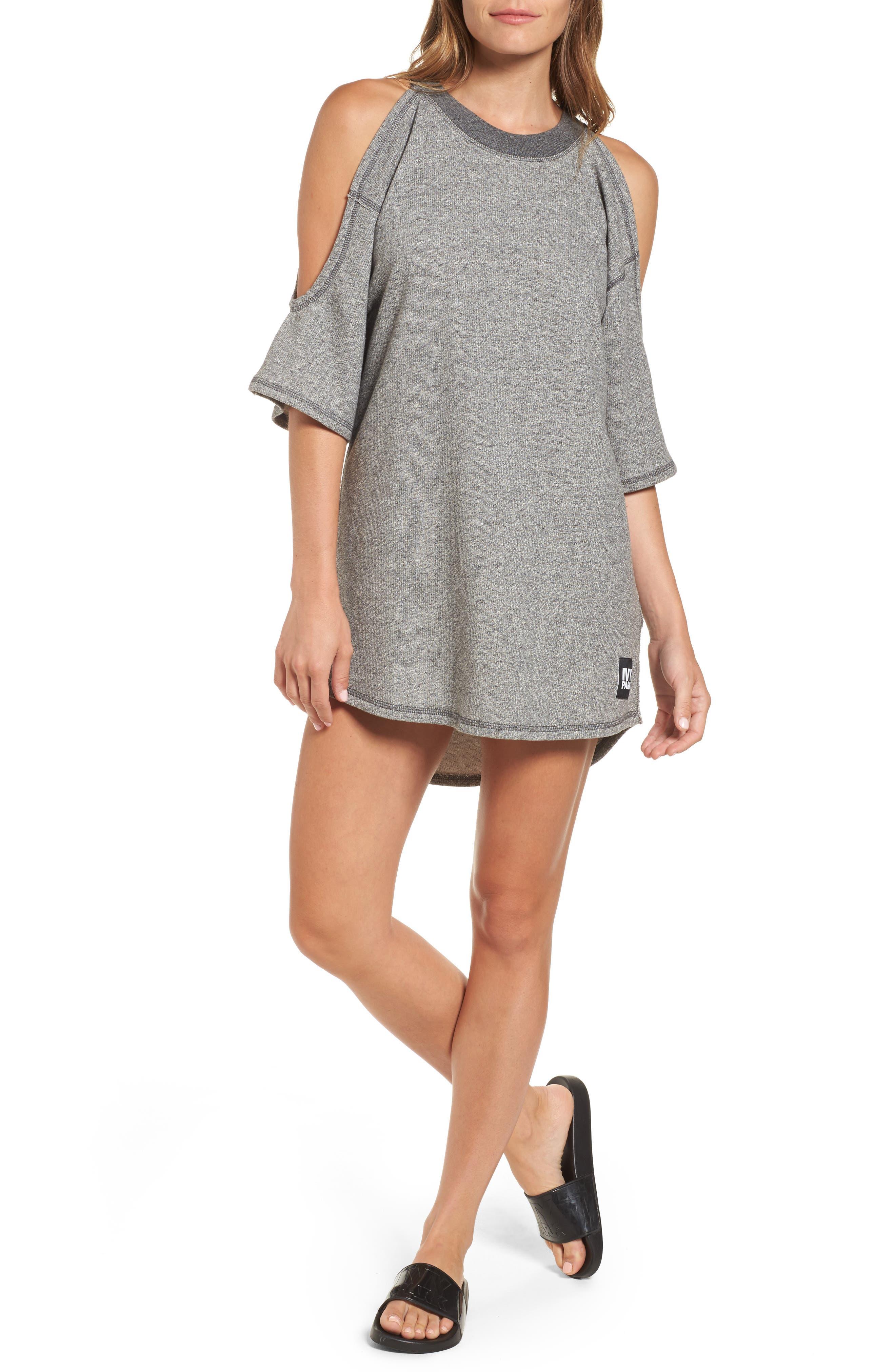 IVY PARK® Cold Shoulder Sweatshirt Dress
