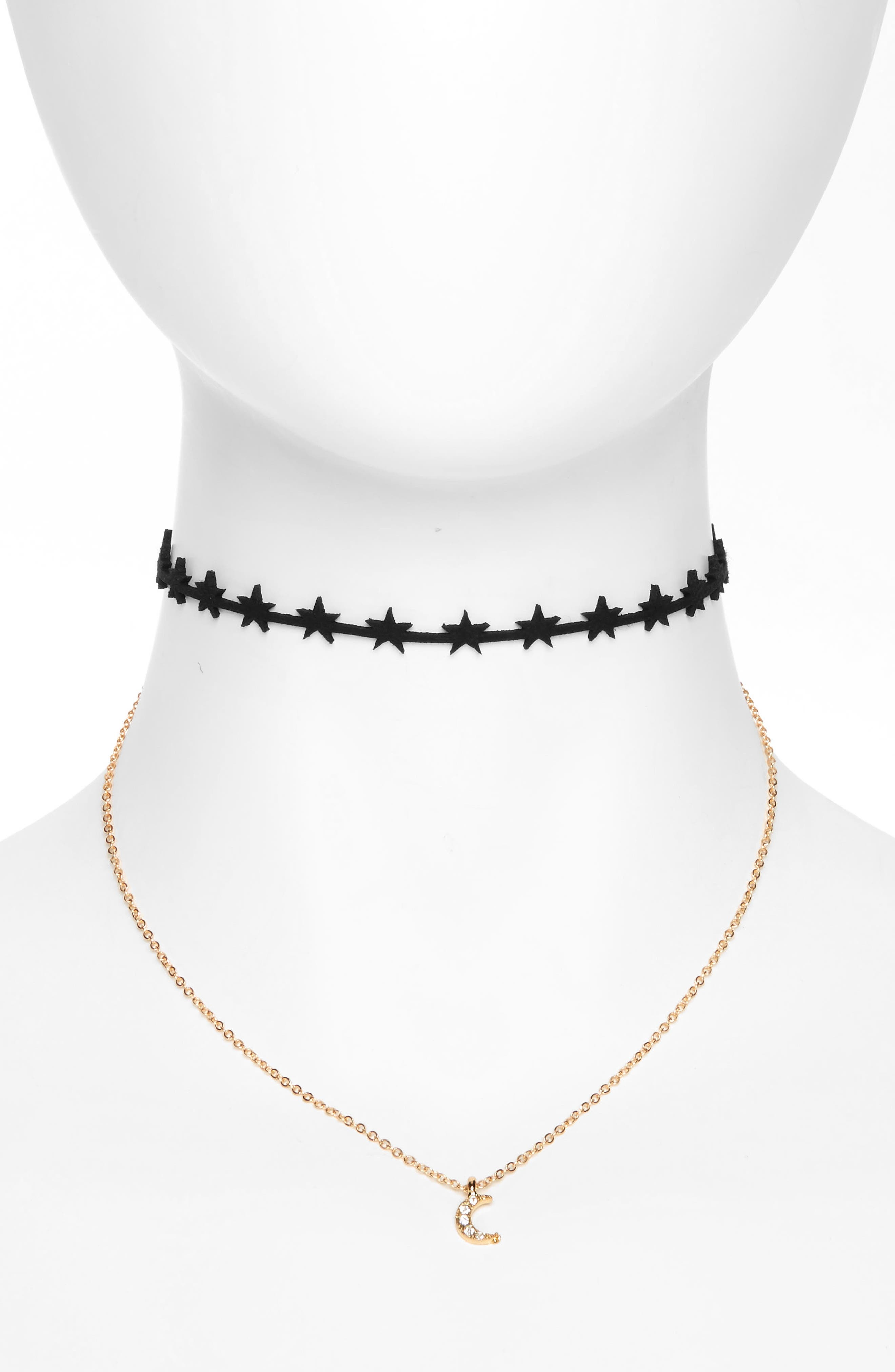 Alternate Image 1 Selected - Cara Multistrand Choker (Girls)