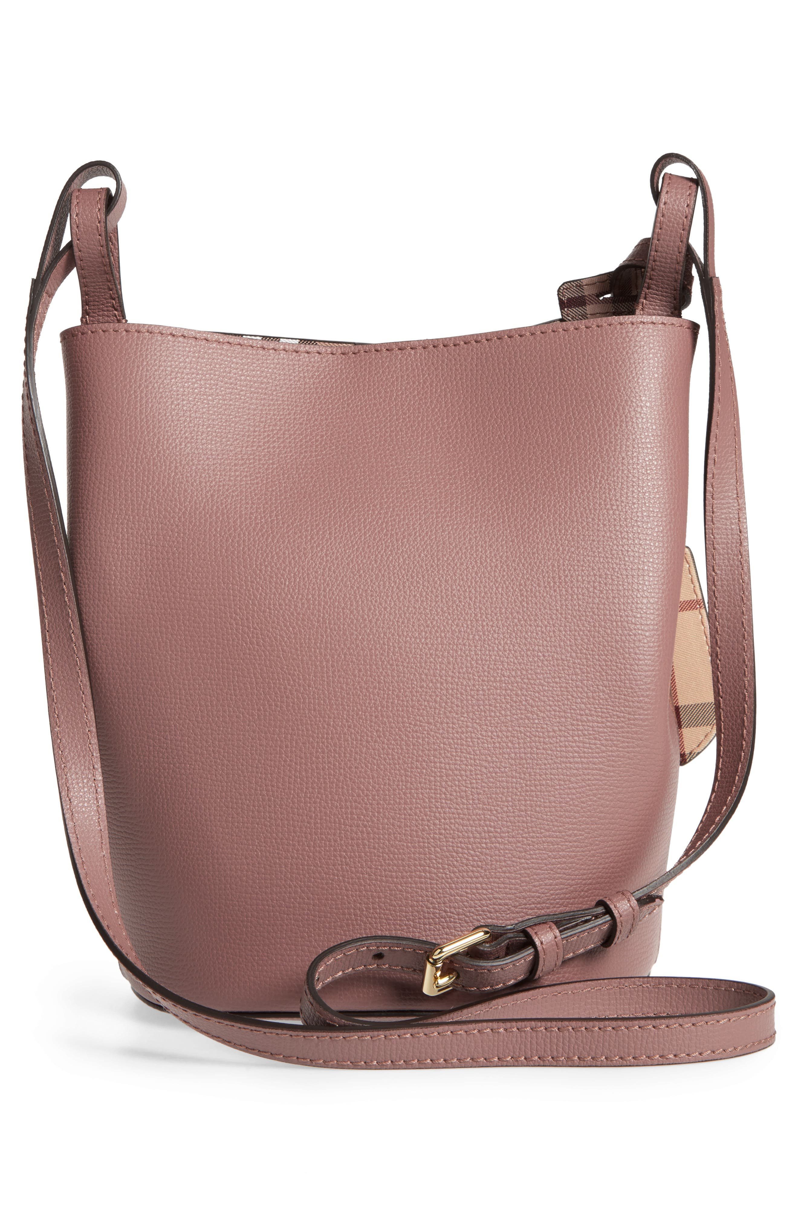 Alternate Image 2  - Burberry Small Lorne Leather Bucket Bag