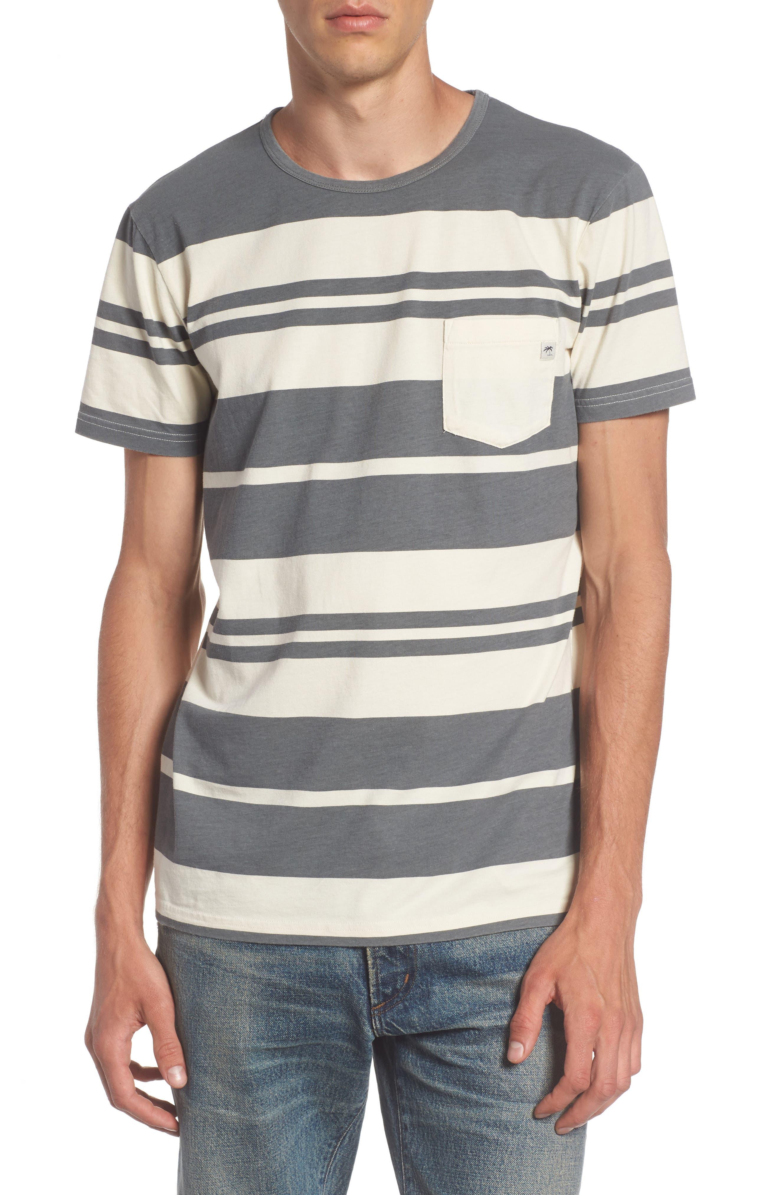 Alternate Image 1 Selected - Quiksilver Lokea Stripe Pocket T-Shirt