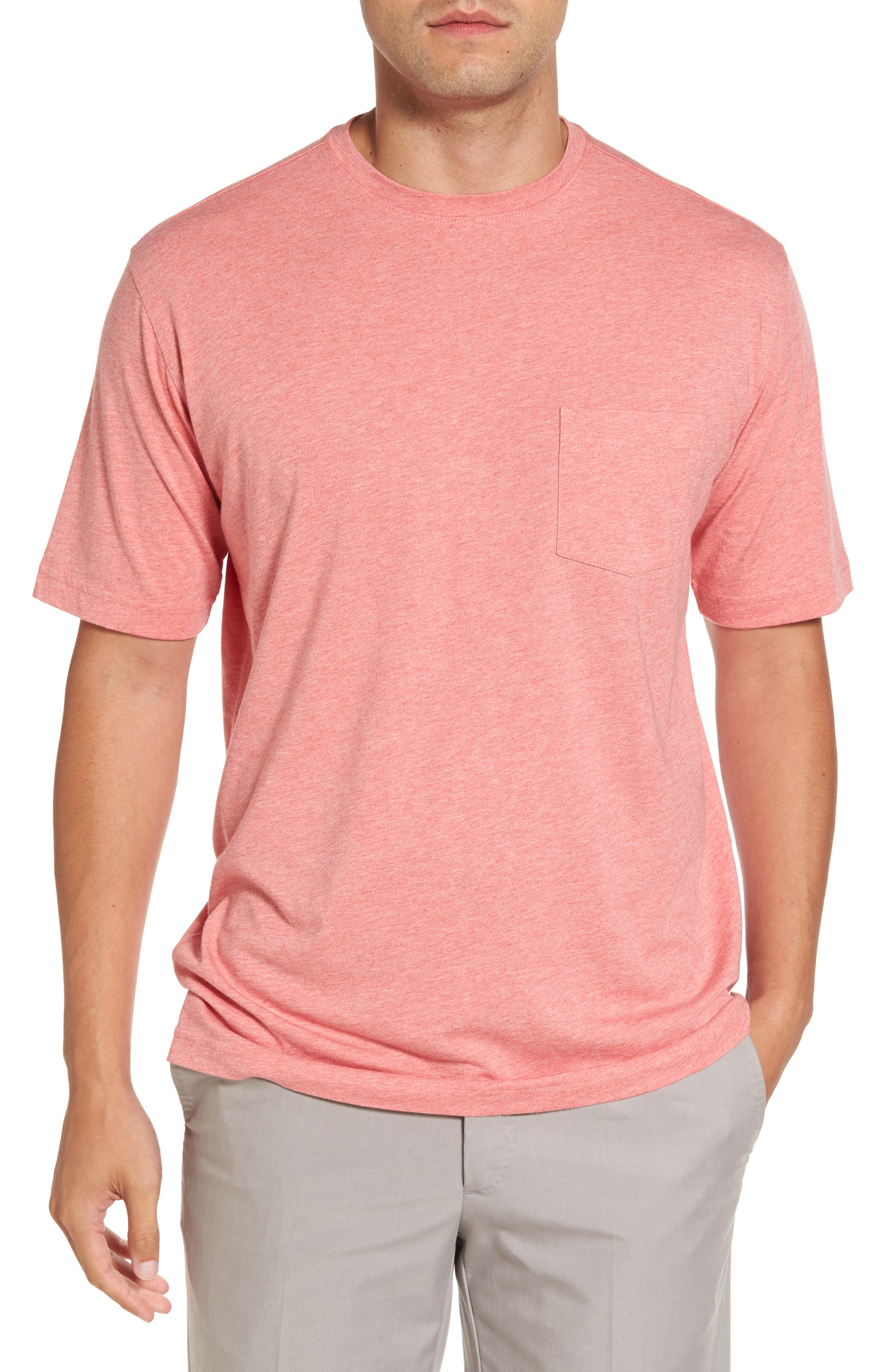 Crown Pocket T-Shirt,                         Main,                         color, Firethorn
