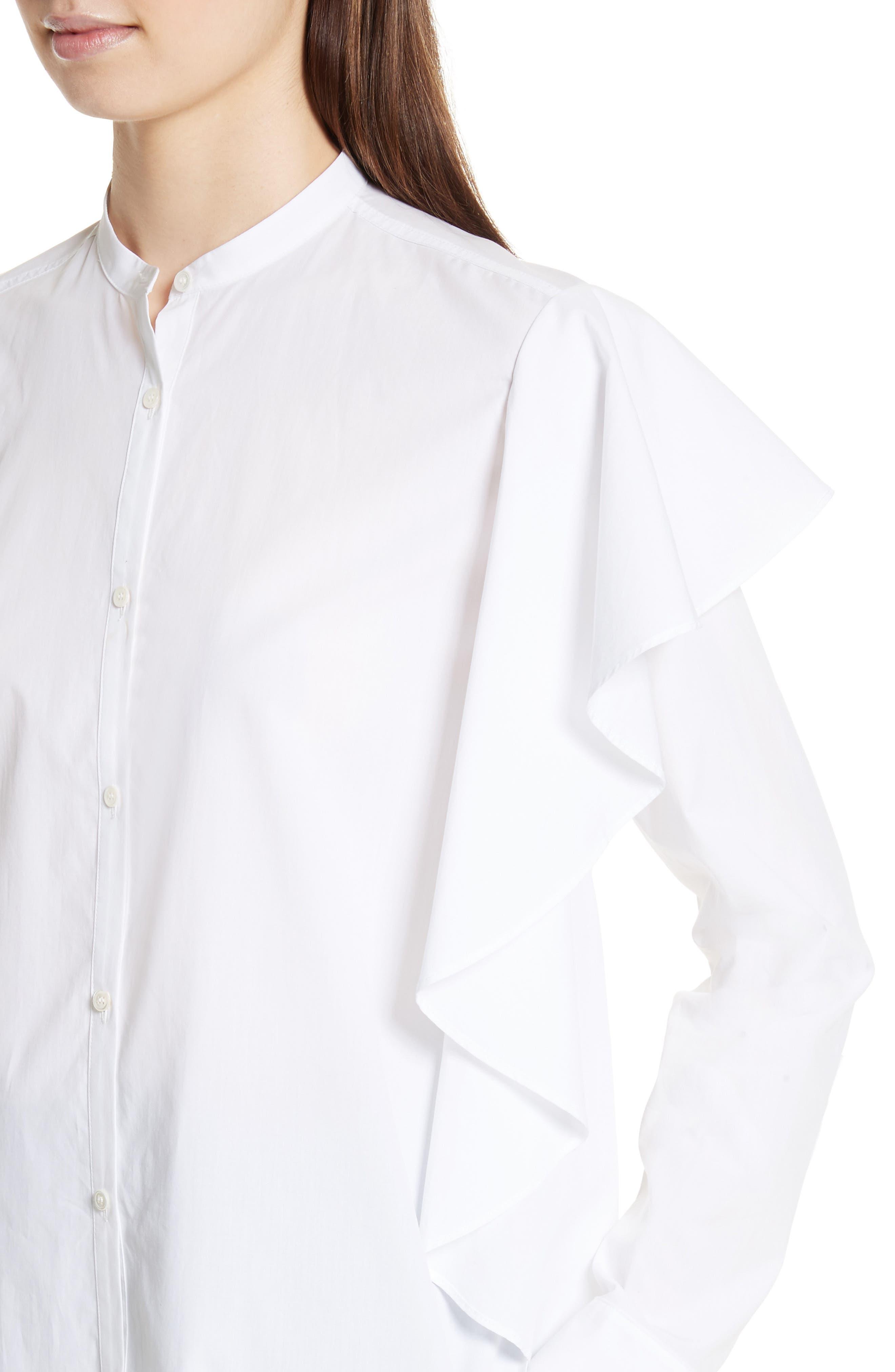 Alternate Image 4  - Robert Rodriguez Ruffle Cotton Shirt