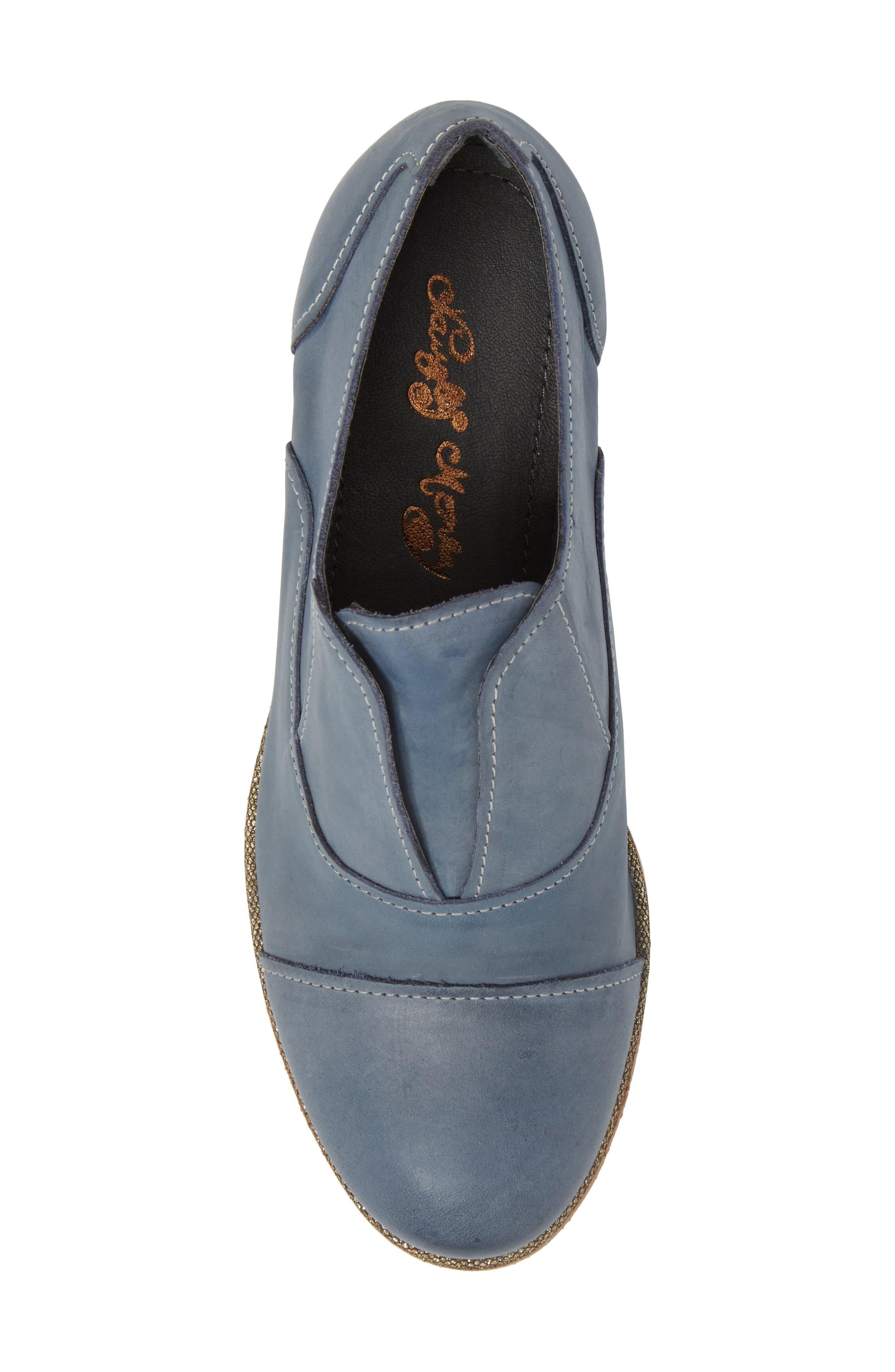 Slip Knot Loafer,                             Alternate thumbnail 5, color,                             Blue Leather