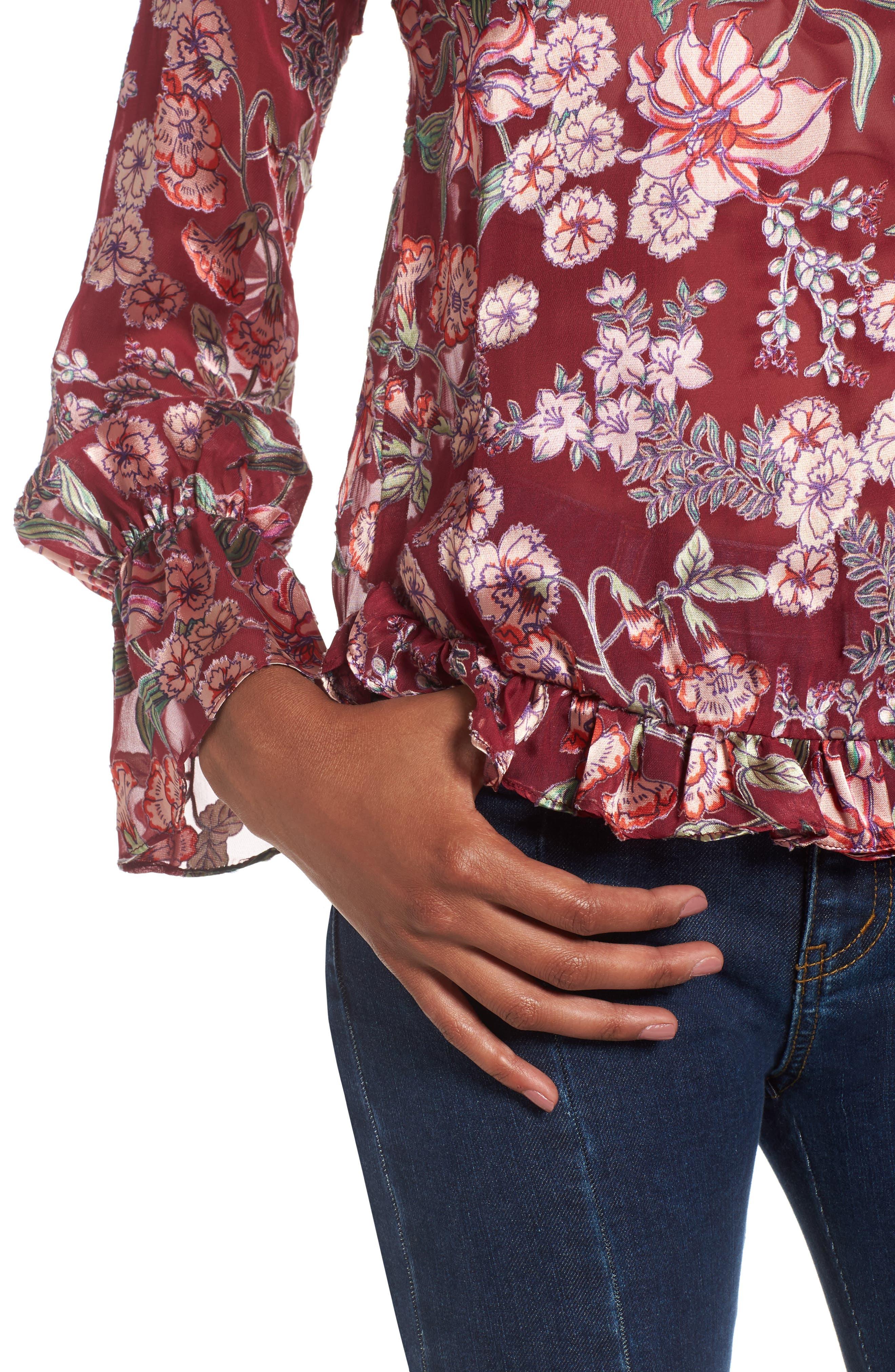 Alternate Image 4  - For Love & Lemons Flora Button Back Blouse