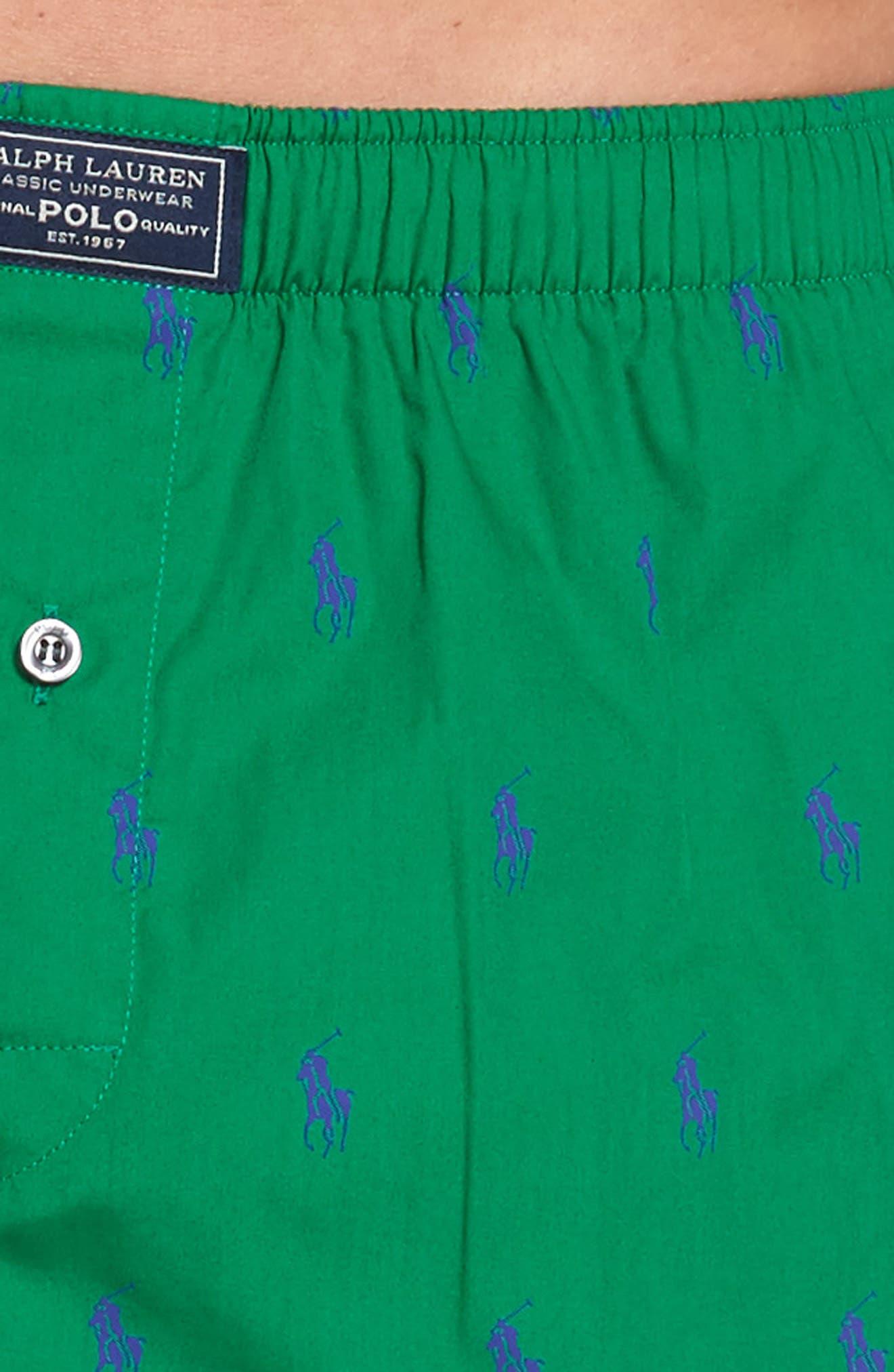 Pony Cotton Boxers,                             Alternate thumbnail 4, color,                             English Green