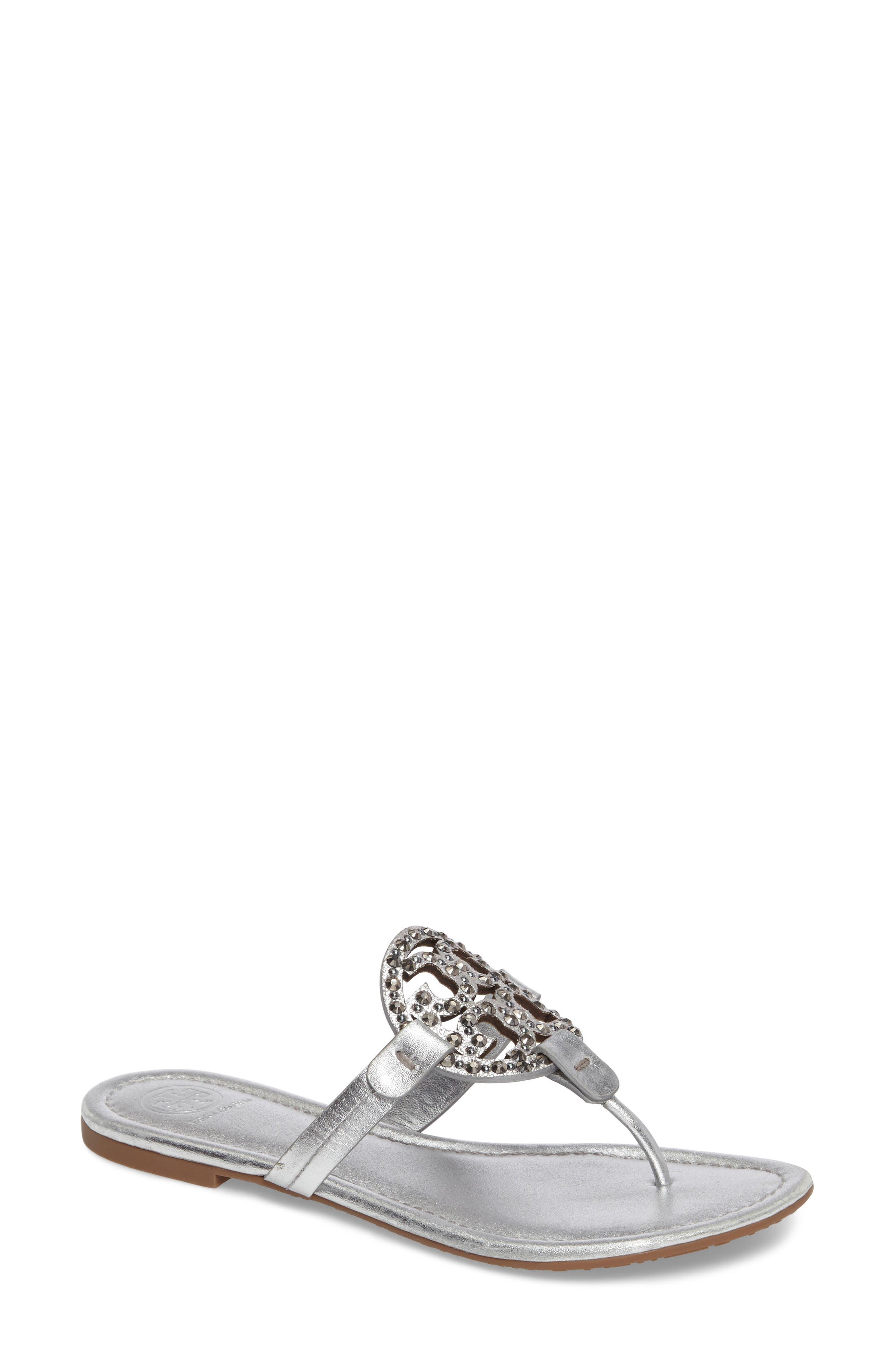 Main Image - Tory Burch Miller Embellished Sandal (Women)
