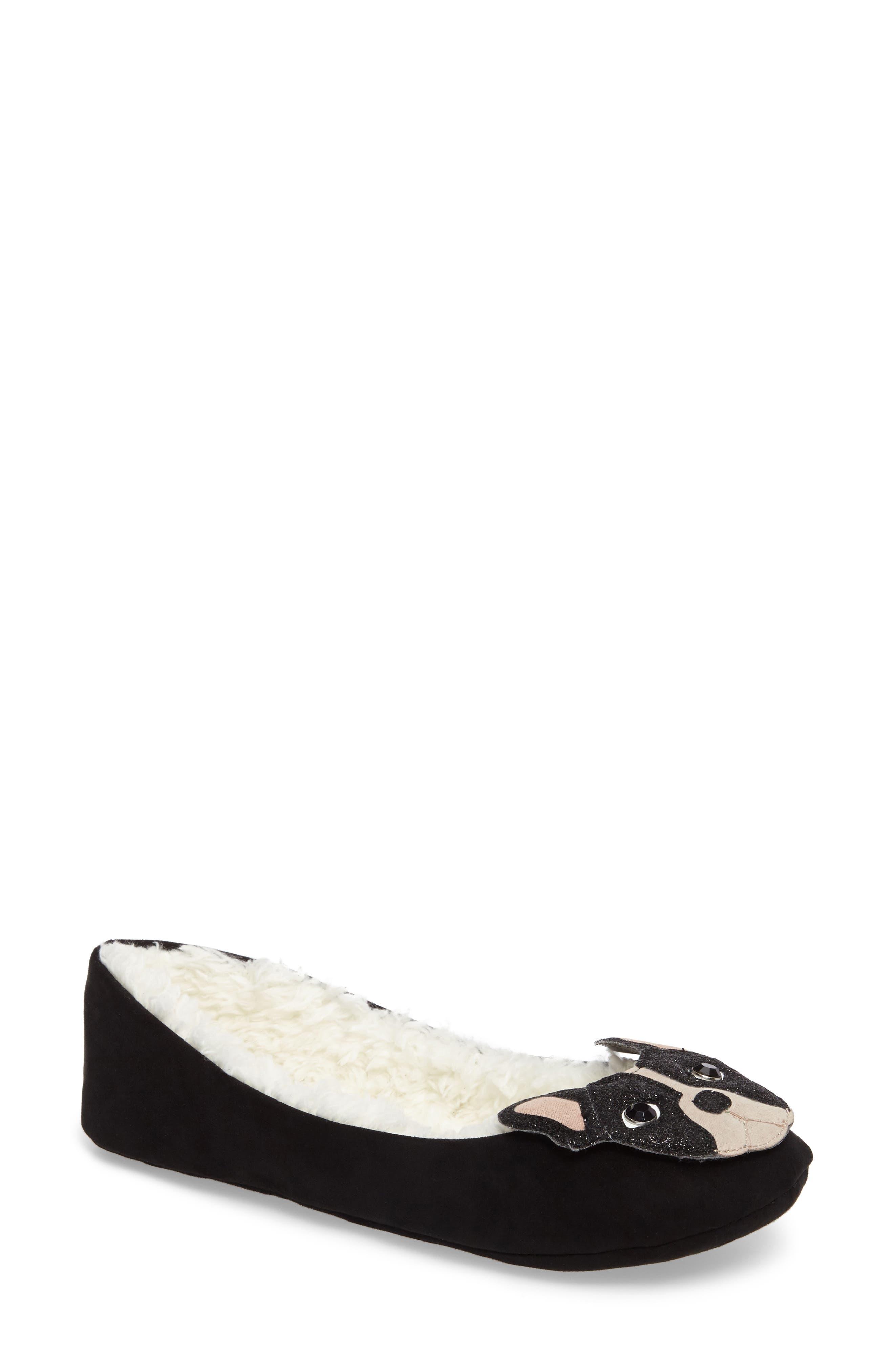 seymour slipper,                         Main,                         color, Black Micro Suede