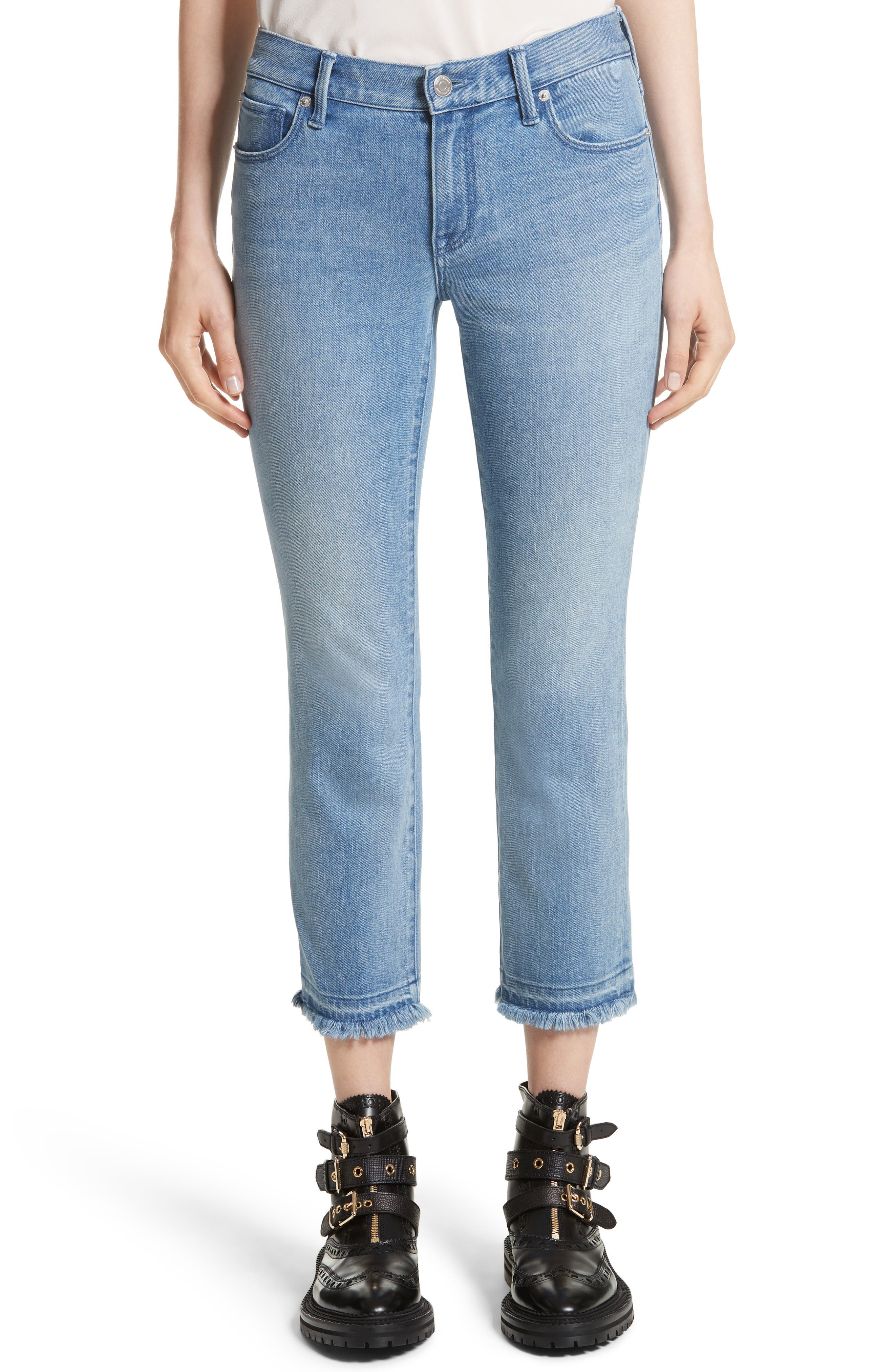 Relaxed Crop Jeans,                         Main,                         color, Pale Blue