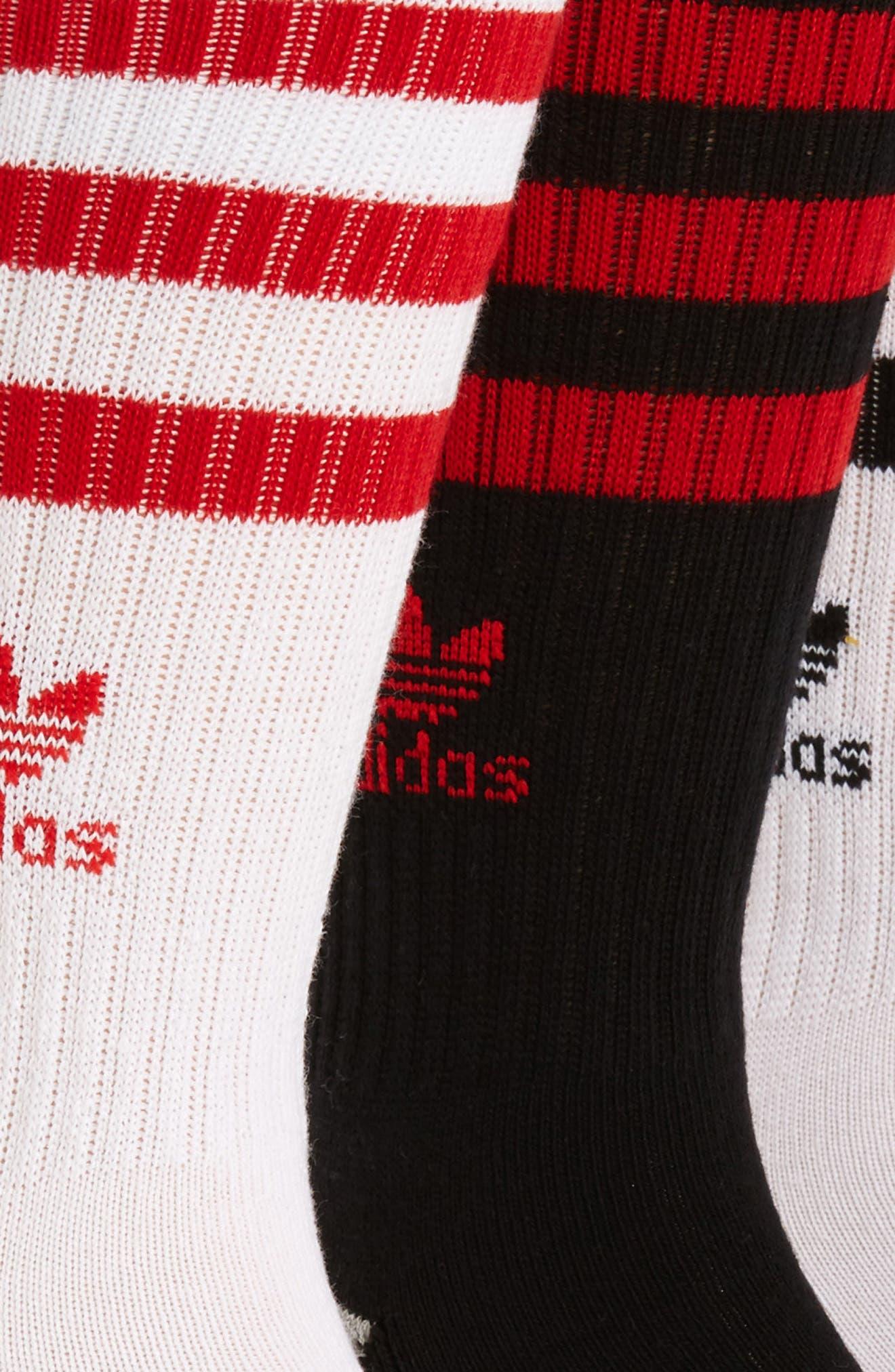 Alternate Image 2  - adidas 3-Pack Original Roller Crew Socks