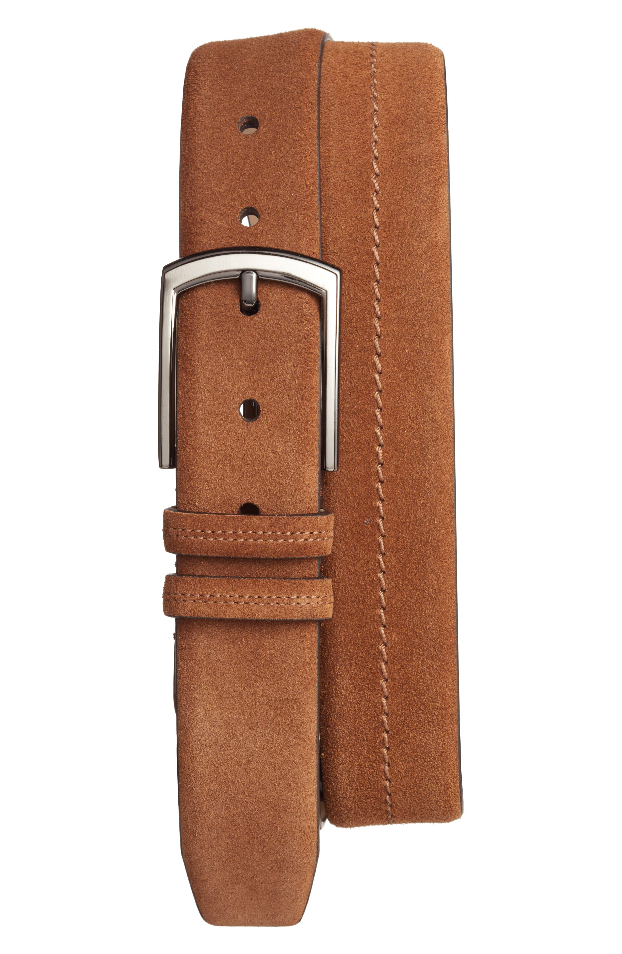 Fuji Suede Belt,                         Main,                         color, Tan