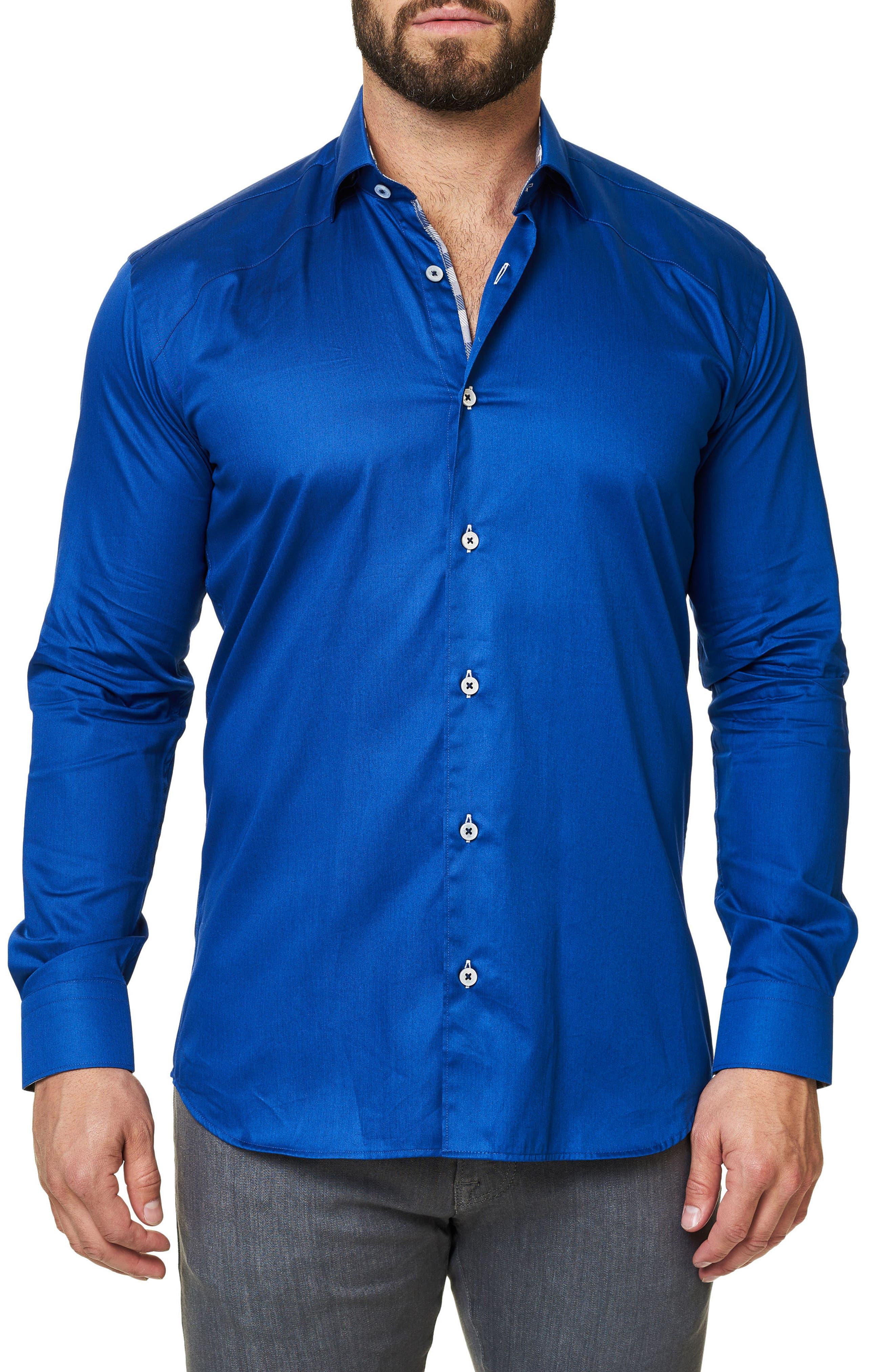 Trim Fit Sport Shirt,                         Main,                         color, Navy