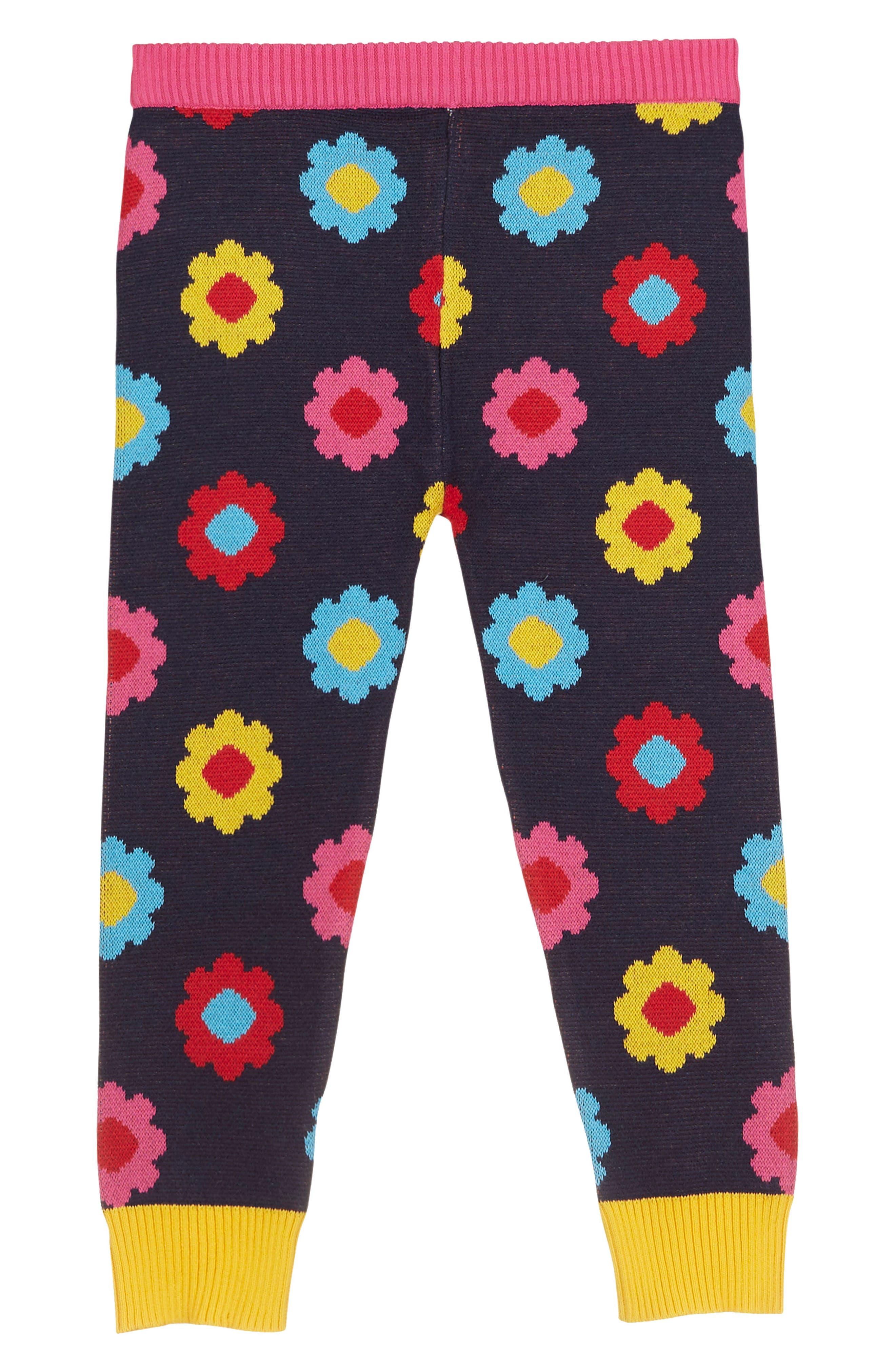 Print Knit Leggings,                             Alternate thumbnail 2, color,                             Black Multi
