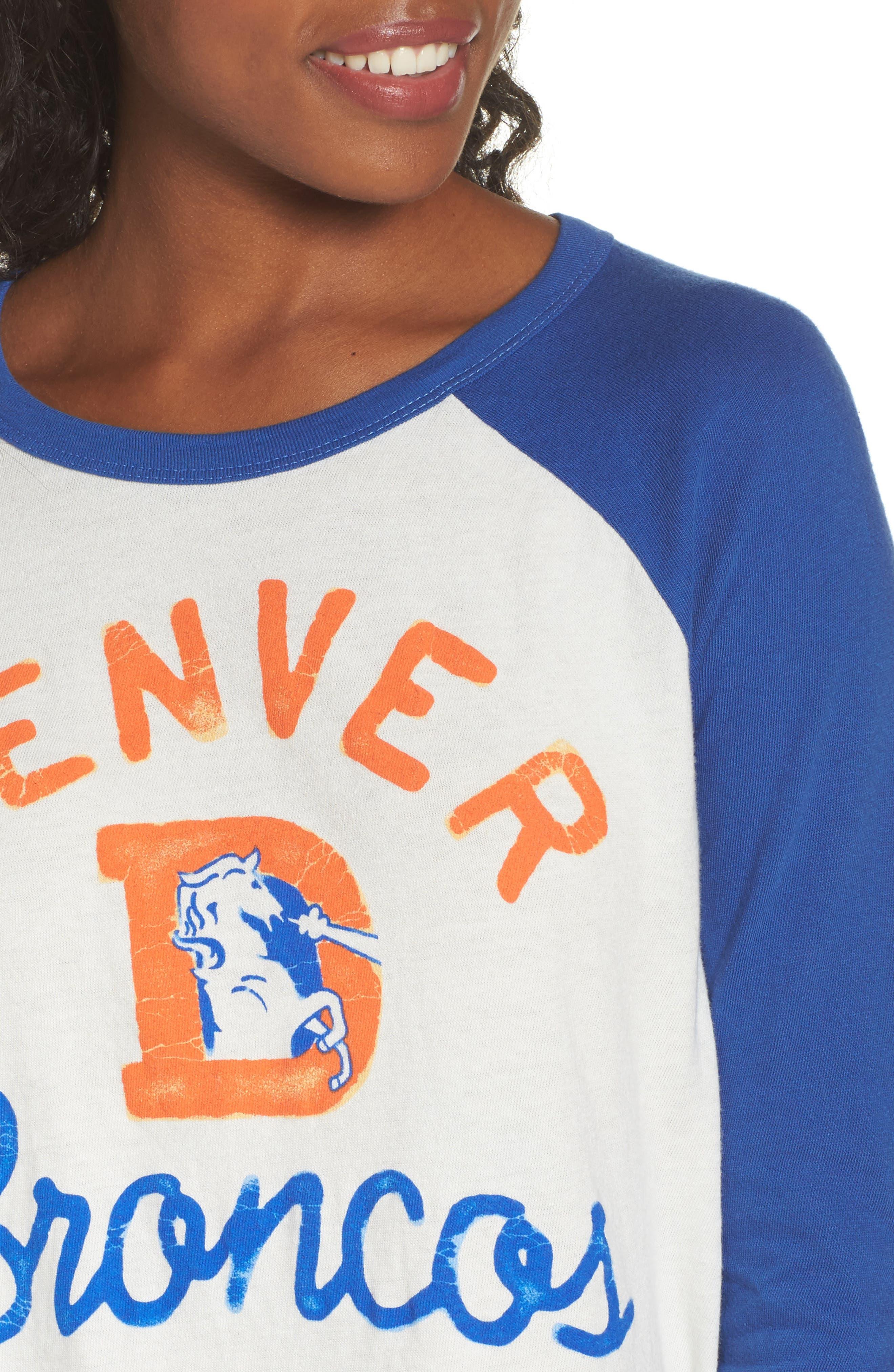 NFL Denver Broncos Raglan Tee,                             Alternate thumbnail 4, color,                             Sugar/ Liberty