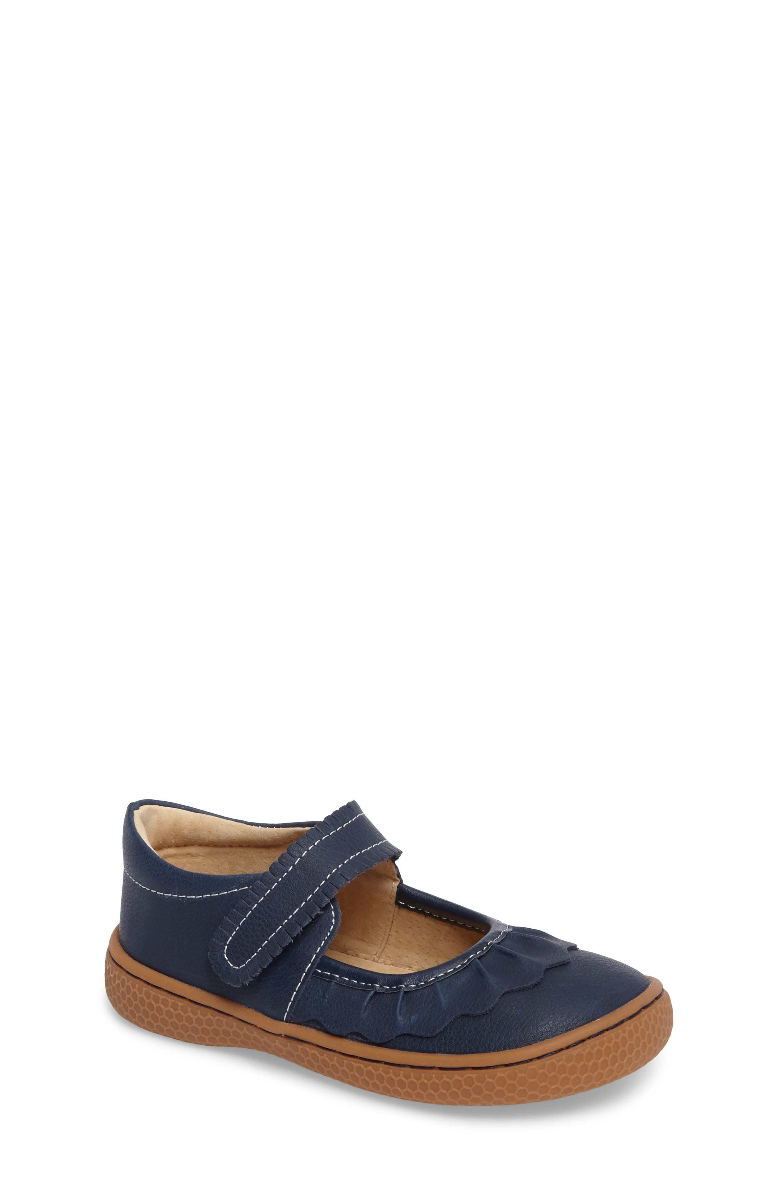 'Ruche' Mary Jane,                         Main,                         color, Navy Blue