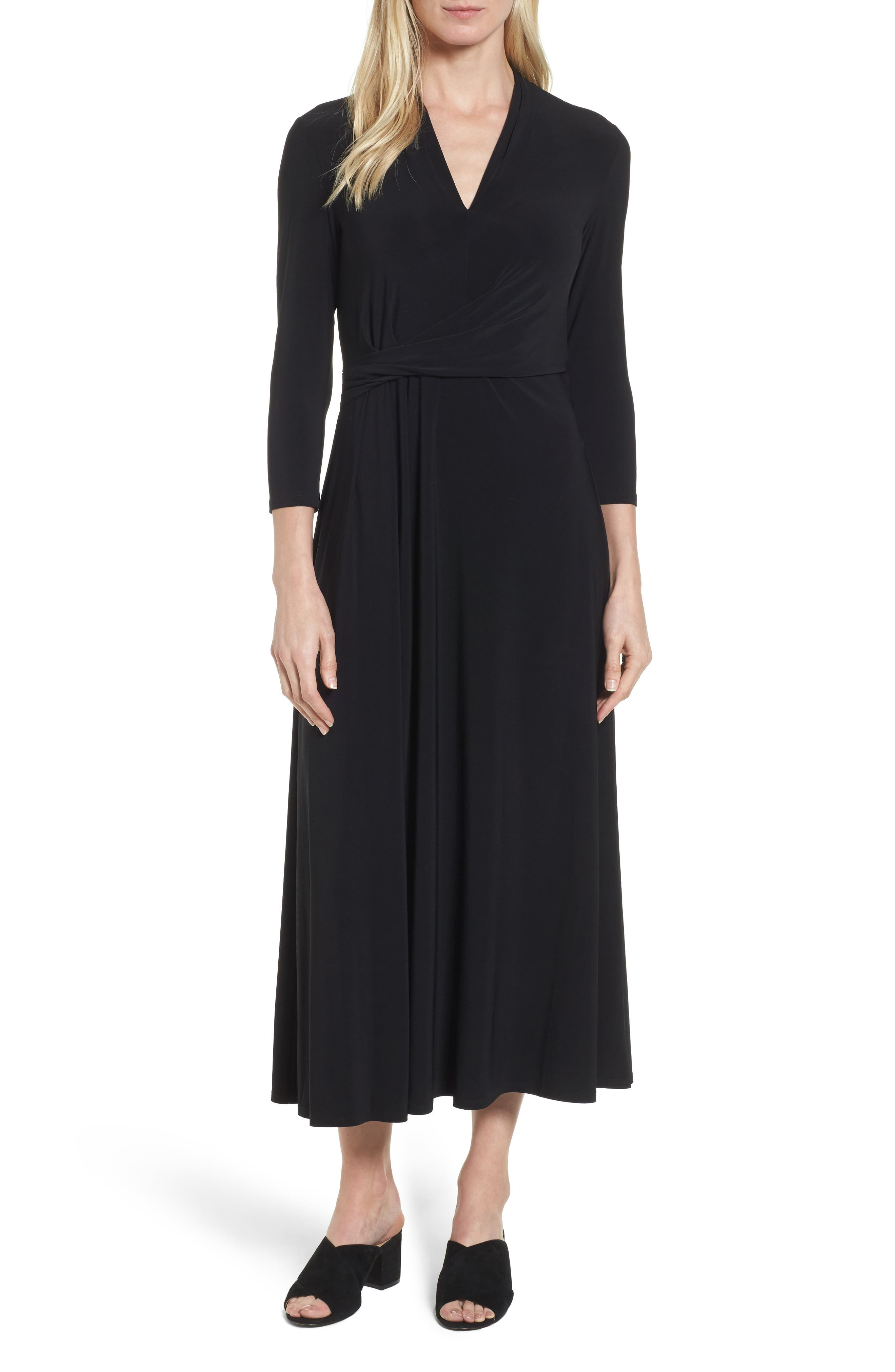 Chaus Twist Side Midi Dress