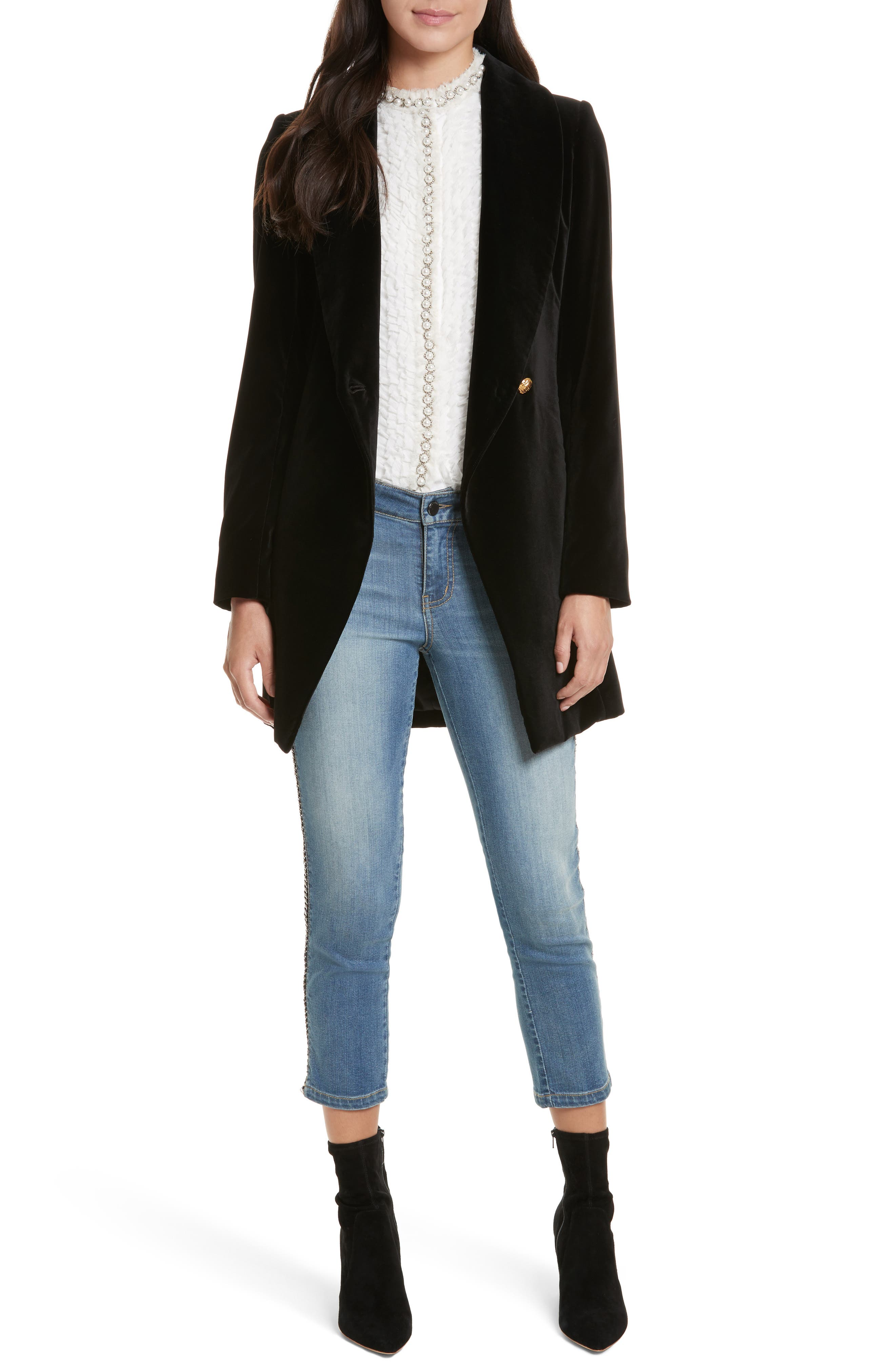 Alternate Image 2  - Alice + Olivia Jane Crop Skinny Jeans