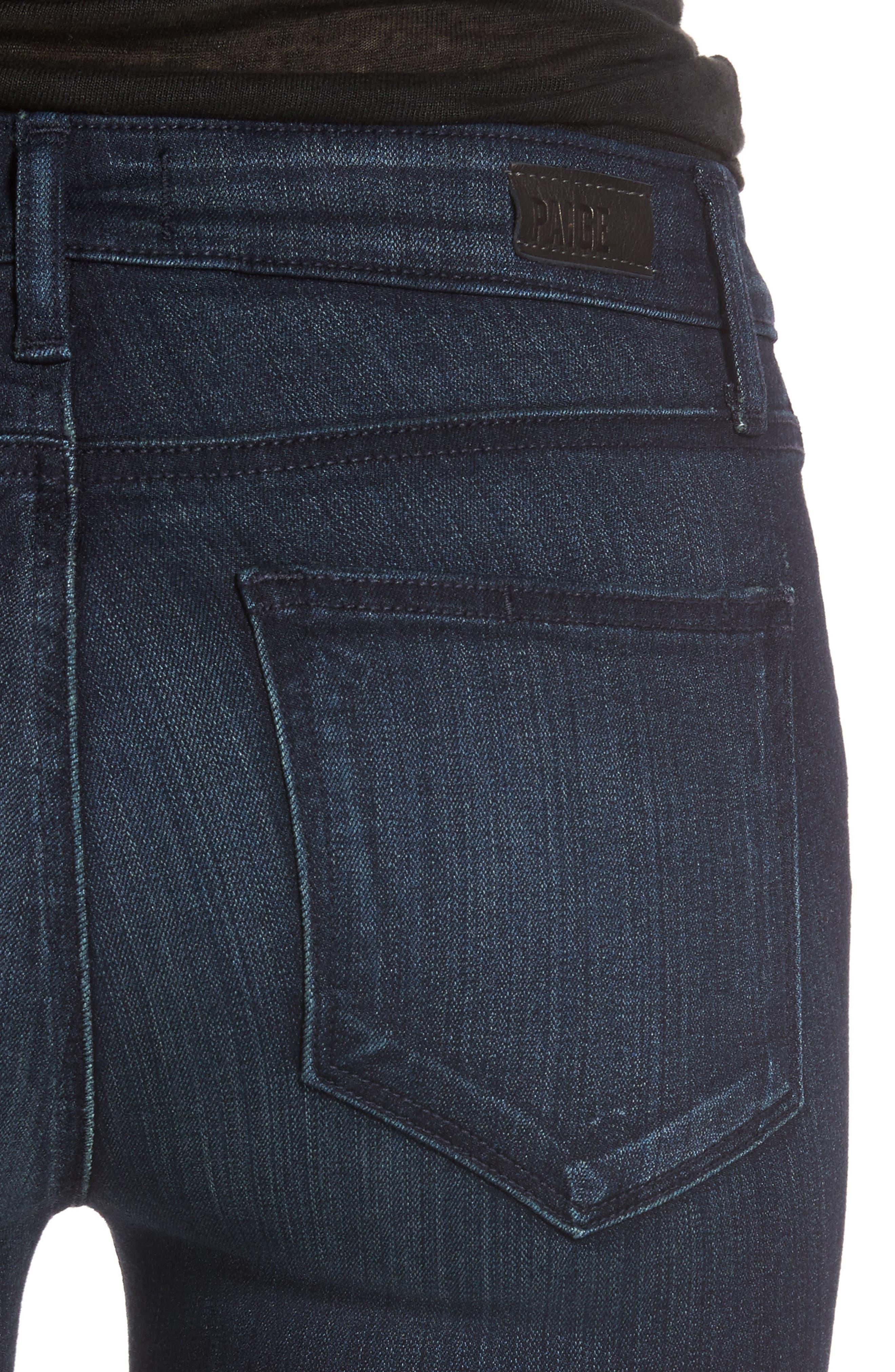 Transcend - Verdugo Ankle Skinny Jeans,                             Alternate thumbnail 4, color,                             Midlake