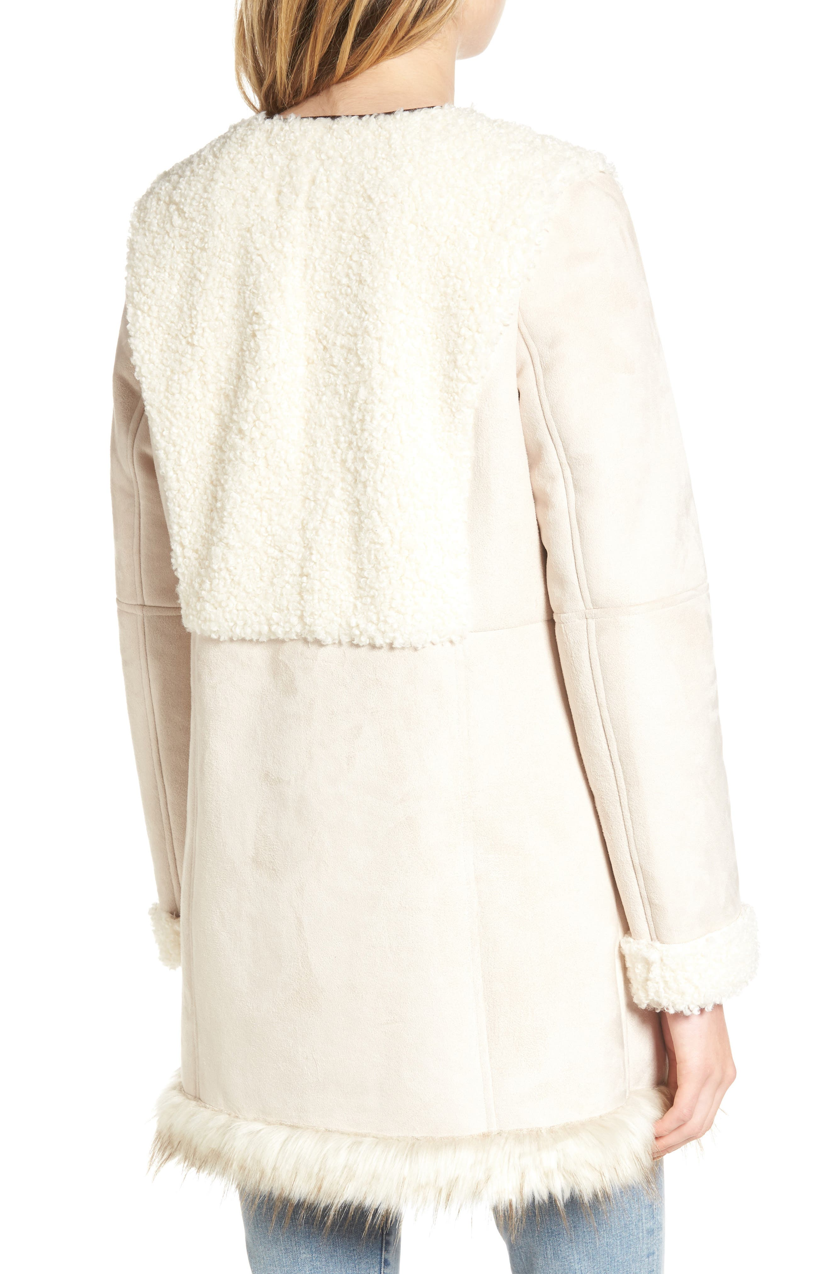 Alternate Image 2  - Sam Edelman Faux Shearling Car Coat