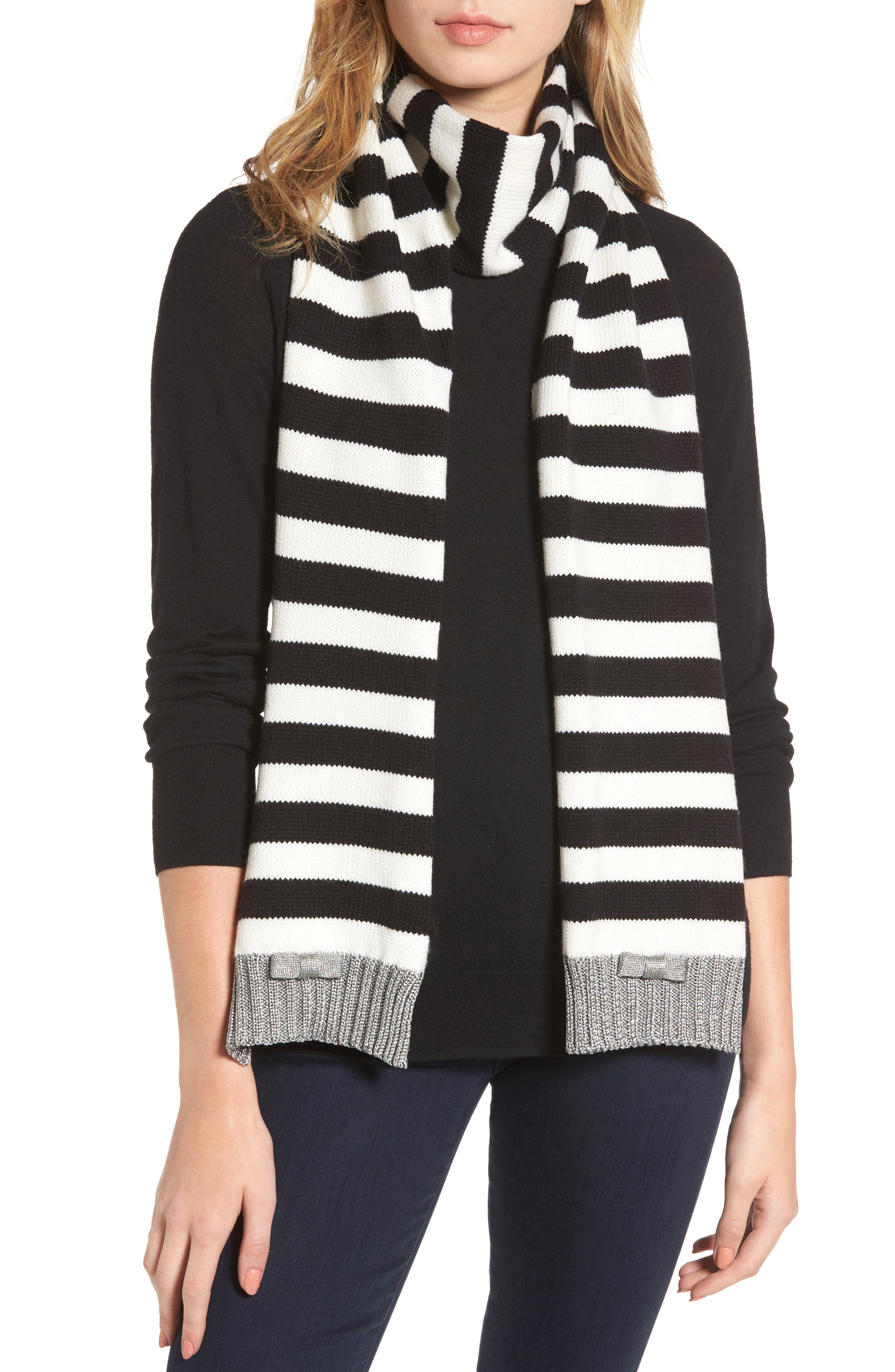 kate spade new york bold stripe muffler