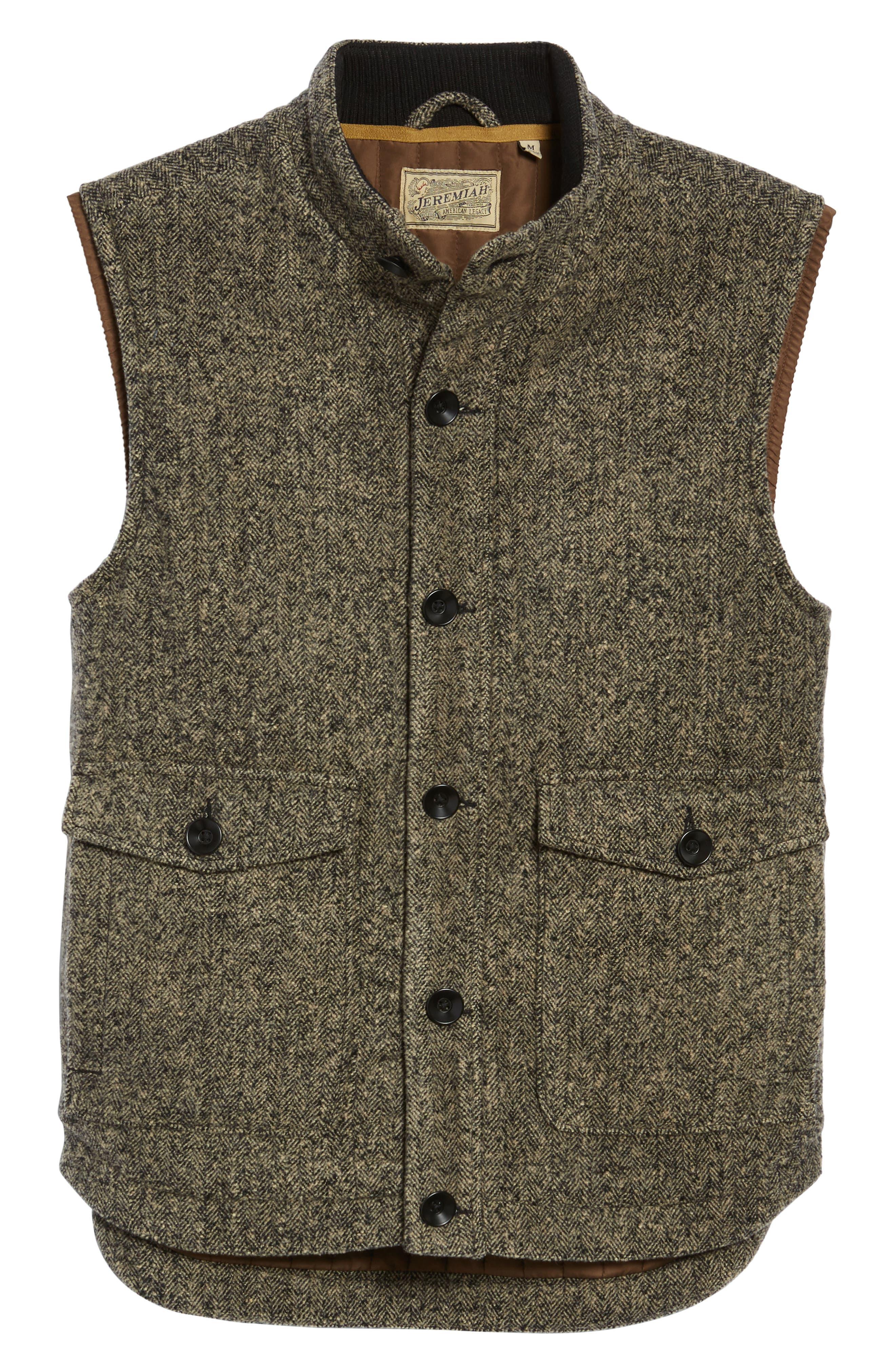 Sanford Herringbone Vest,                             Alternate thumbnail 6, color,                             Mule Heather