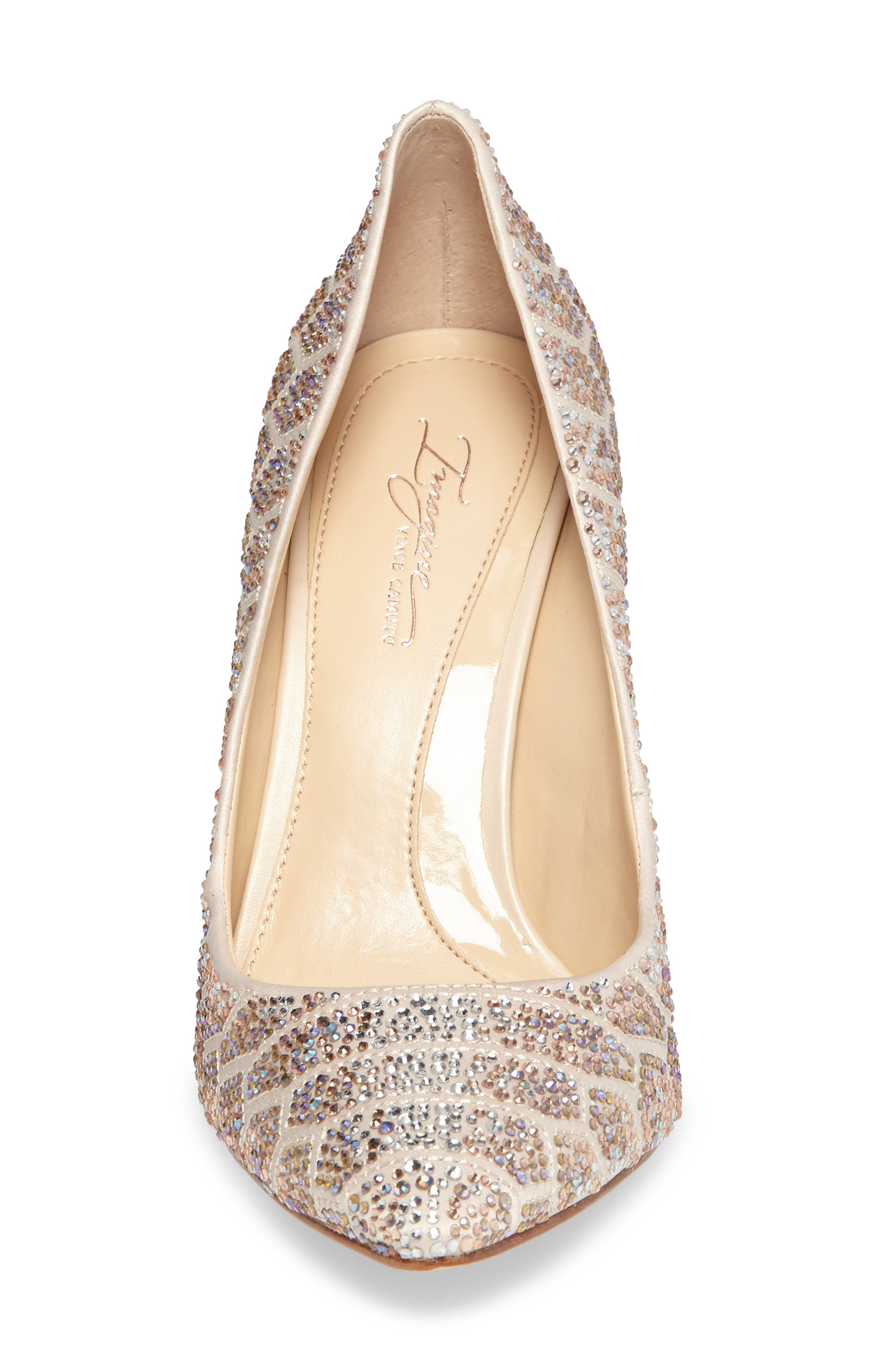 Imagine Vince Camuto 'Olivier' Pointy Toe Pump,                             Alternate thumbnail 4, color,                             Light Sand