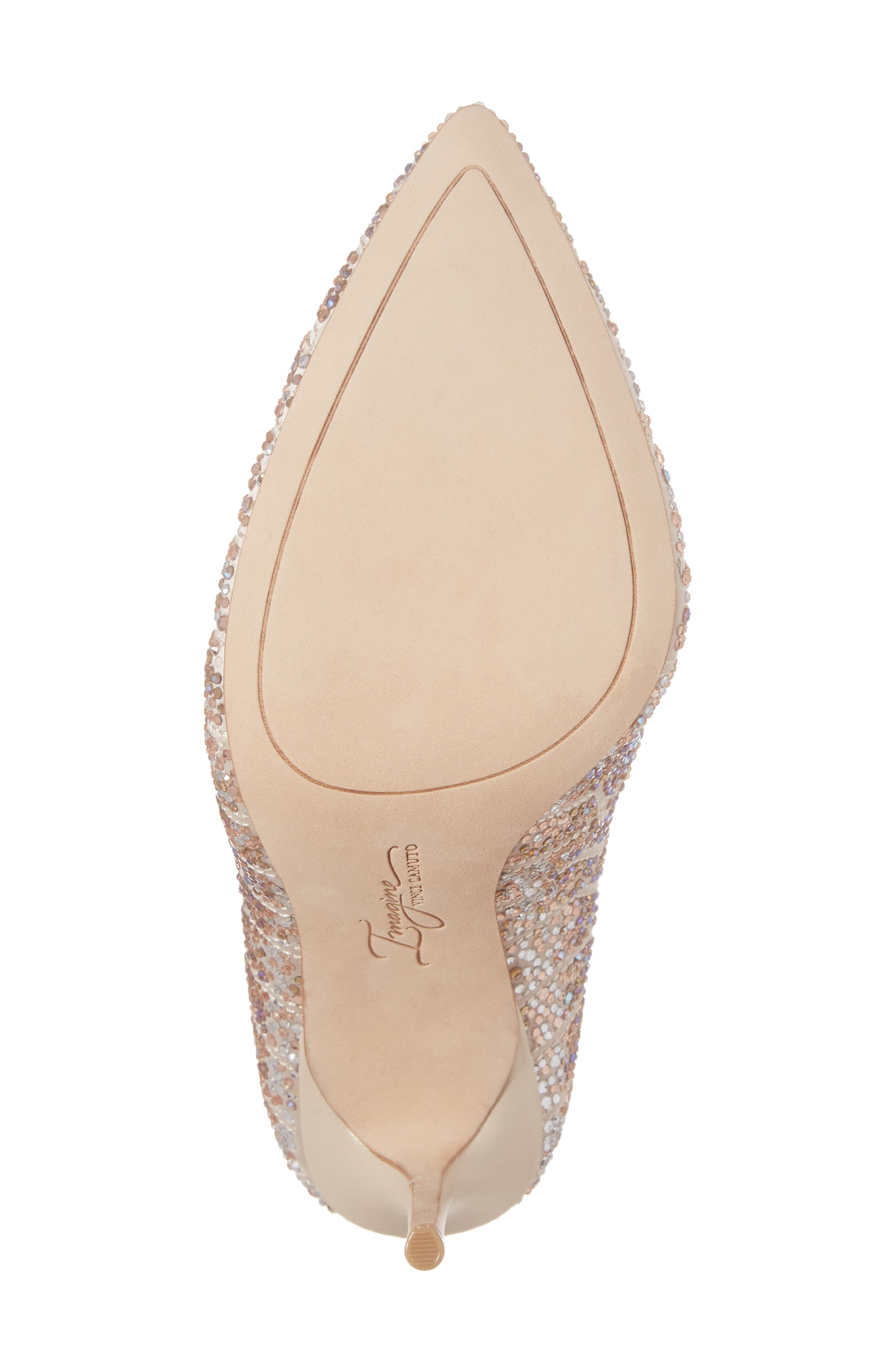 Imagine Vince Camuto 'Olivier' Pointy Toe Pump,                             Alternate thumbnail 6, color,                             Light Sand