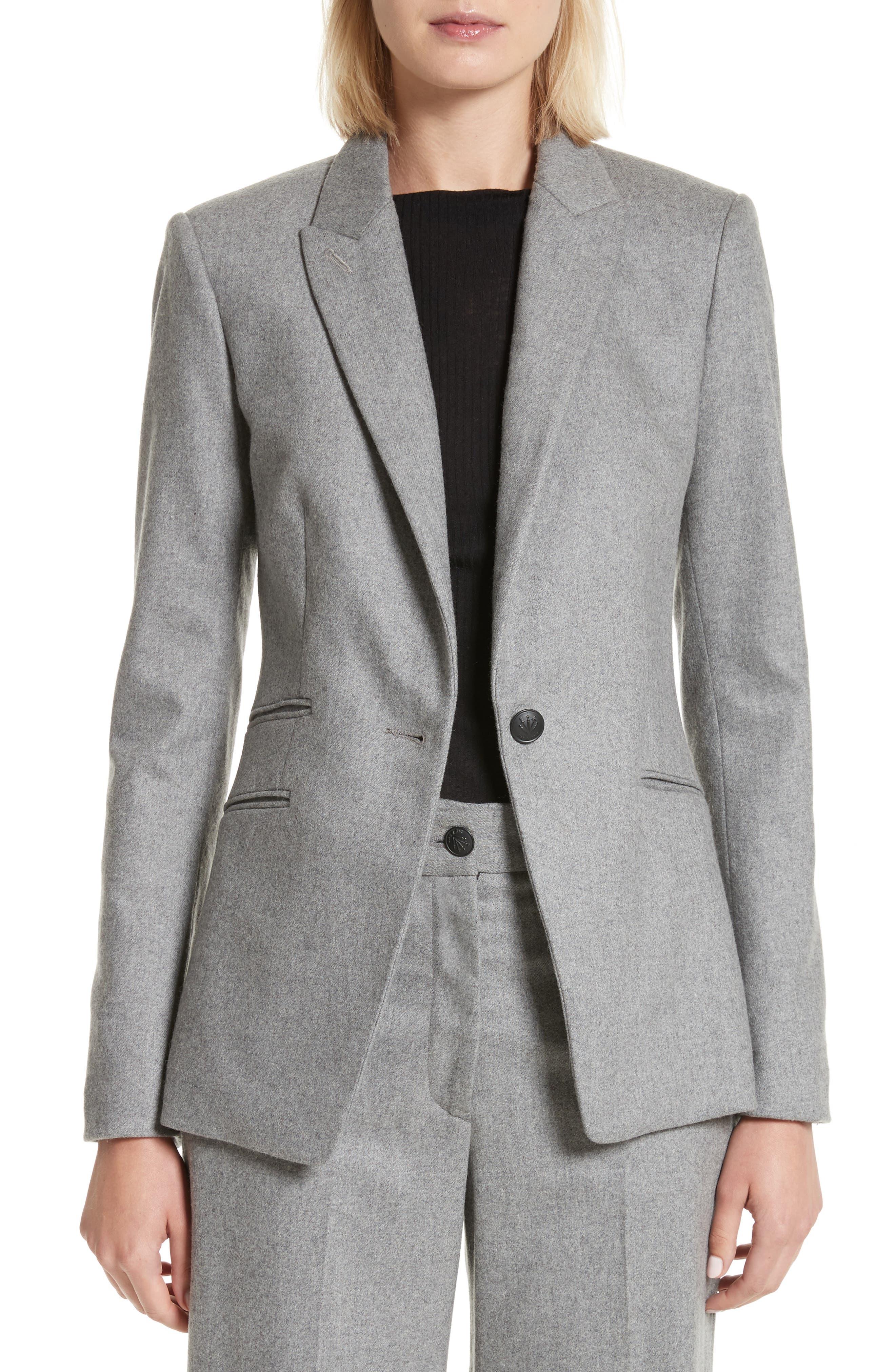 Duke Wool Blend Blazer,                         Main,                         color, Heather Grey