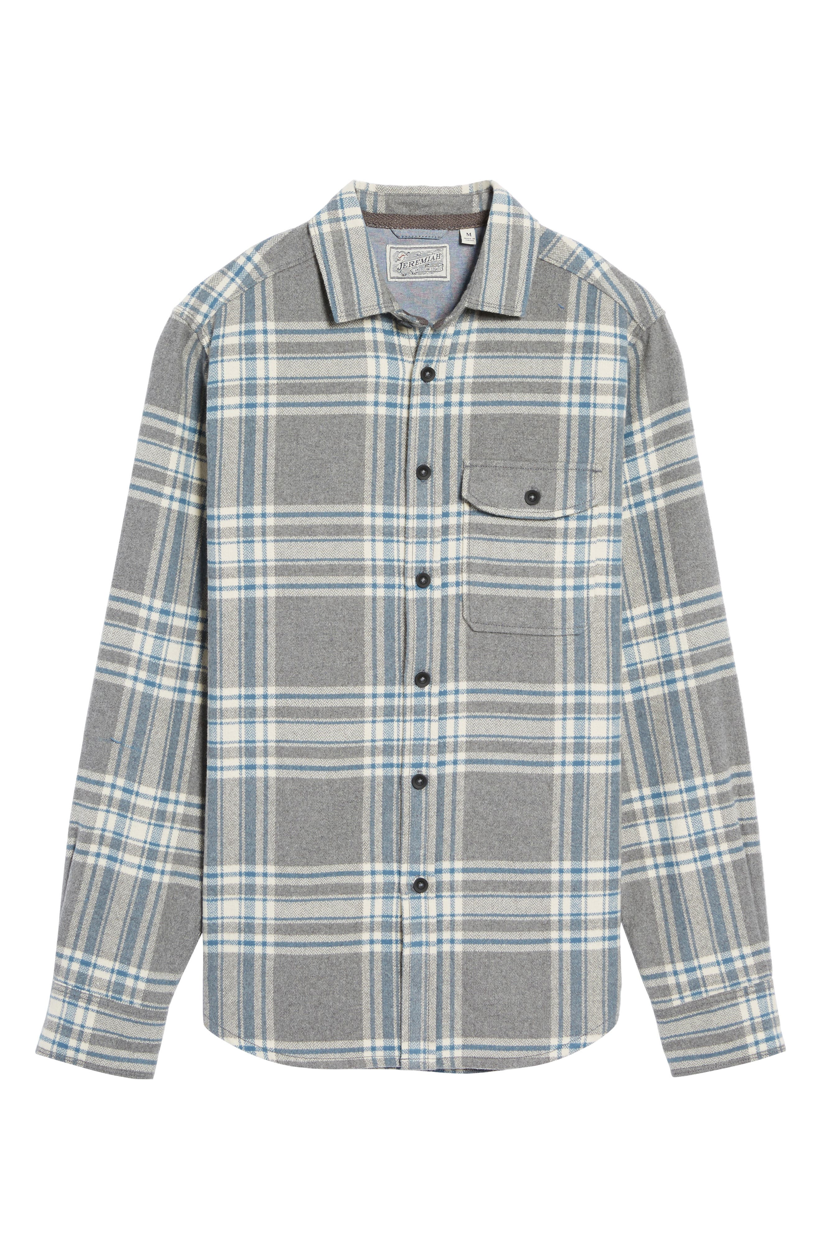 Alternate Image 6  - Jeremiah Marin Herringbone Plaid Flannel Shirt