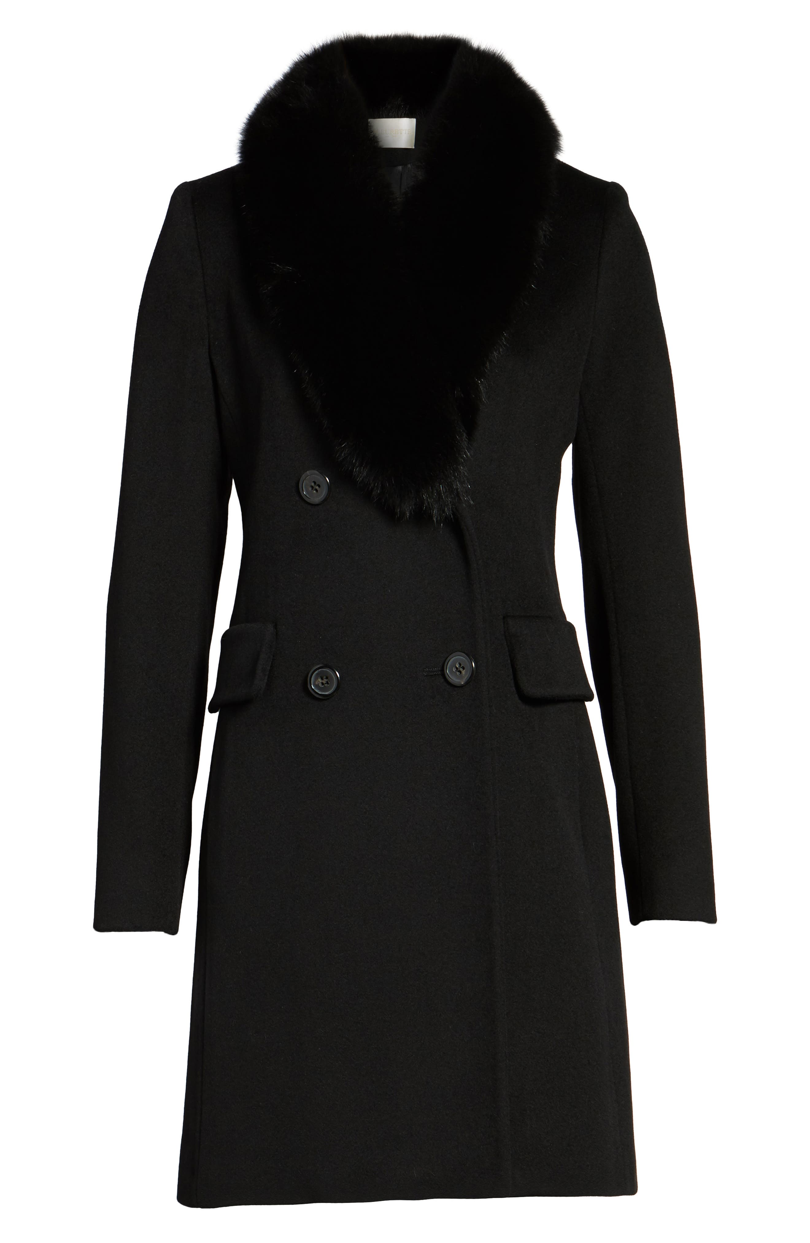 Alternate Image 6  - Fleurette Loro Piana Wool Coat with Genuine Fox Fur Collar